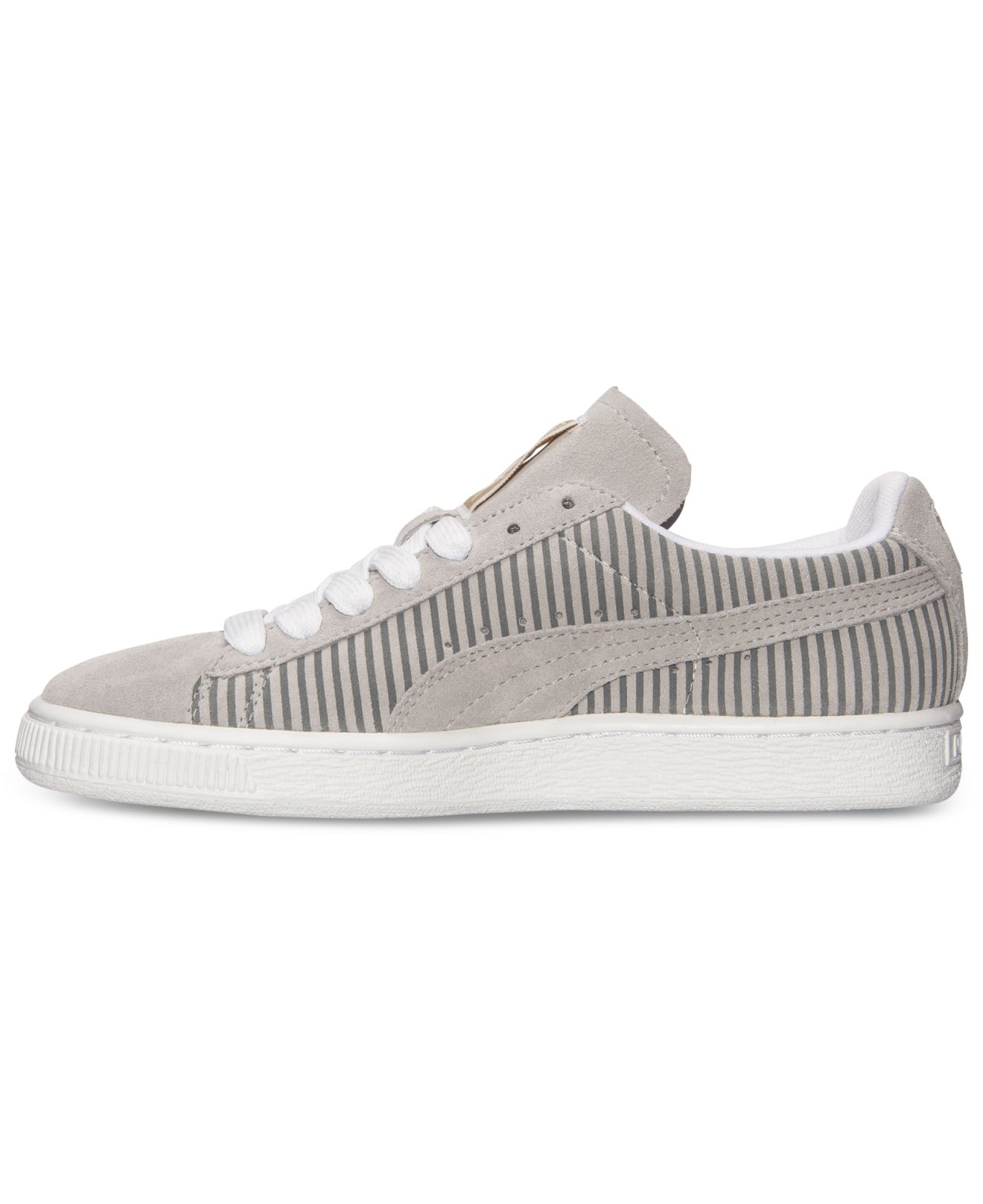 Lyst - PUMA Women S Suede Classic Lo Casual Sneakers From Finish Line in  Gray c61c34983