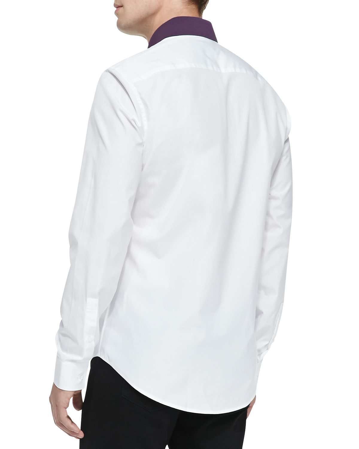 Kenzo Button Down Shirt With Polo Collar In White For Men