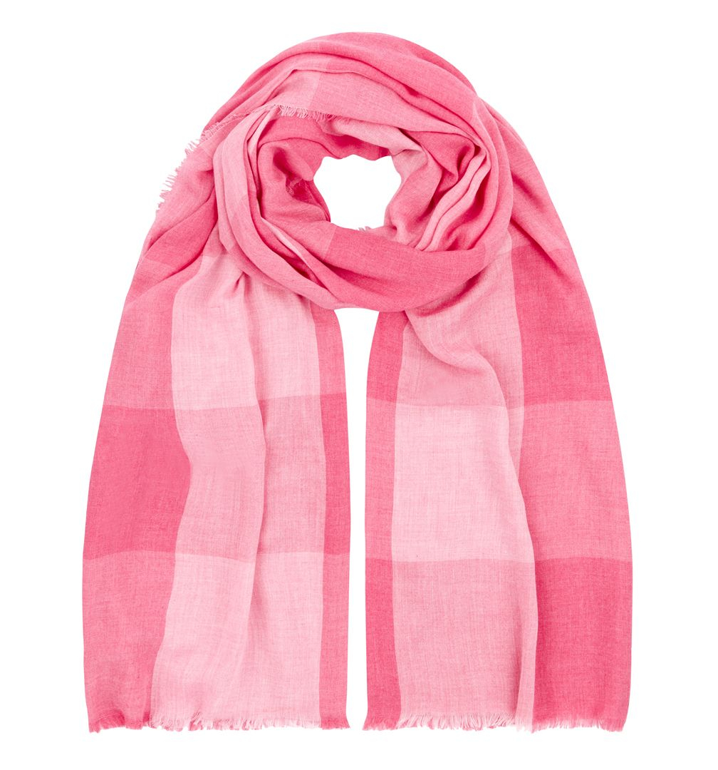 hobbs soft check scarf in pink lyst