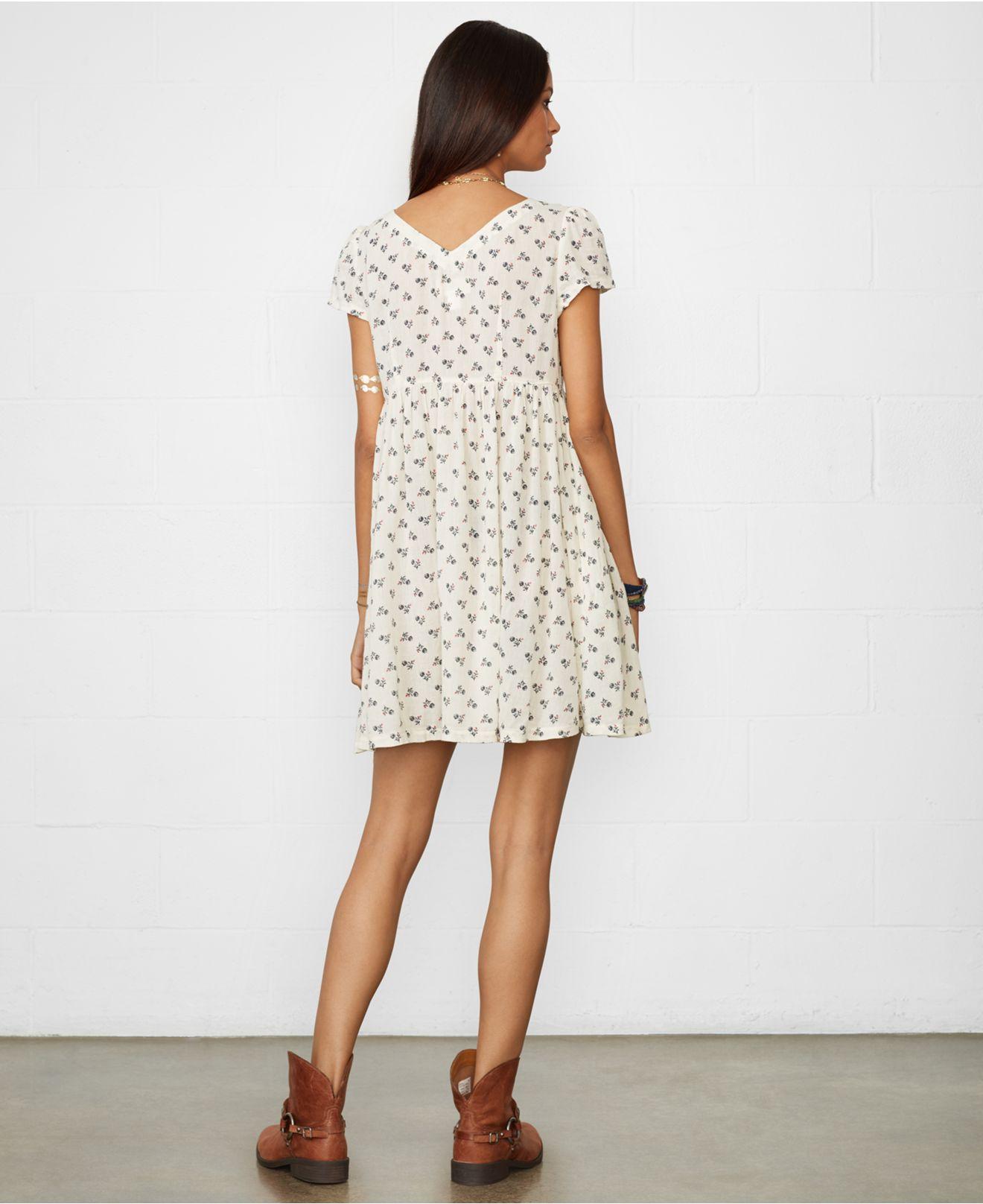 603822cd1 Denim   Supply Ralph Lauren Floral Babydoll Dress - Lyst