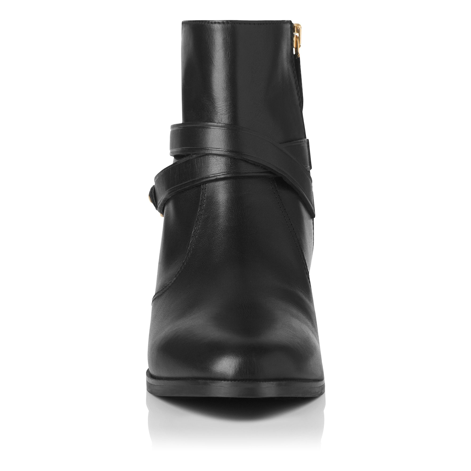 L.K.Bennett Leather Romilly Ankle Boot in Black