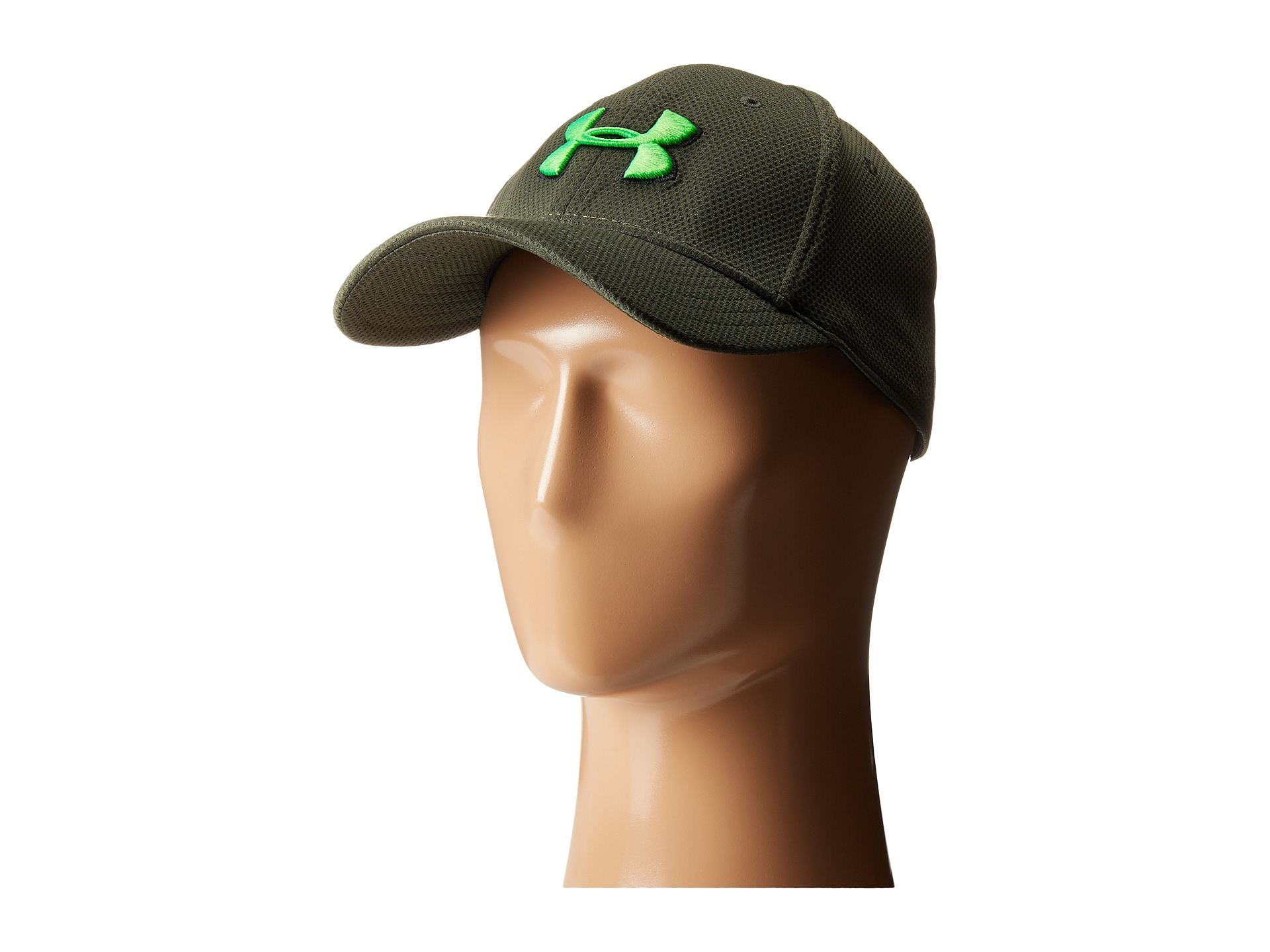 Lyst - Under Armour Ua Blitzing Ii Stretch Fit Cap in Green for Men 3073a911c50