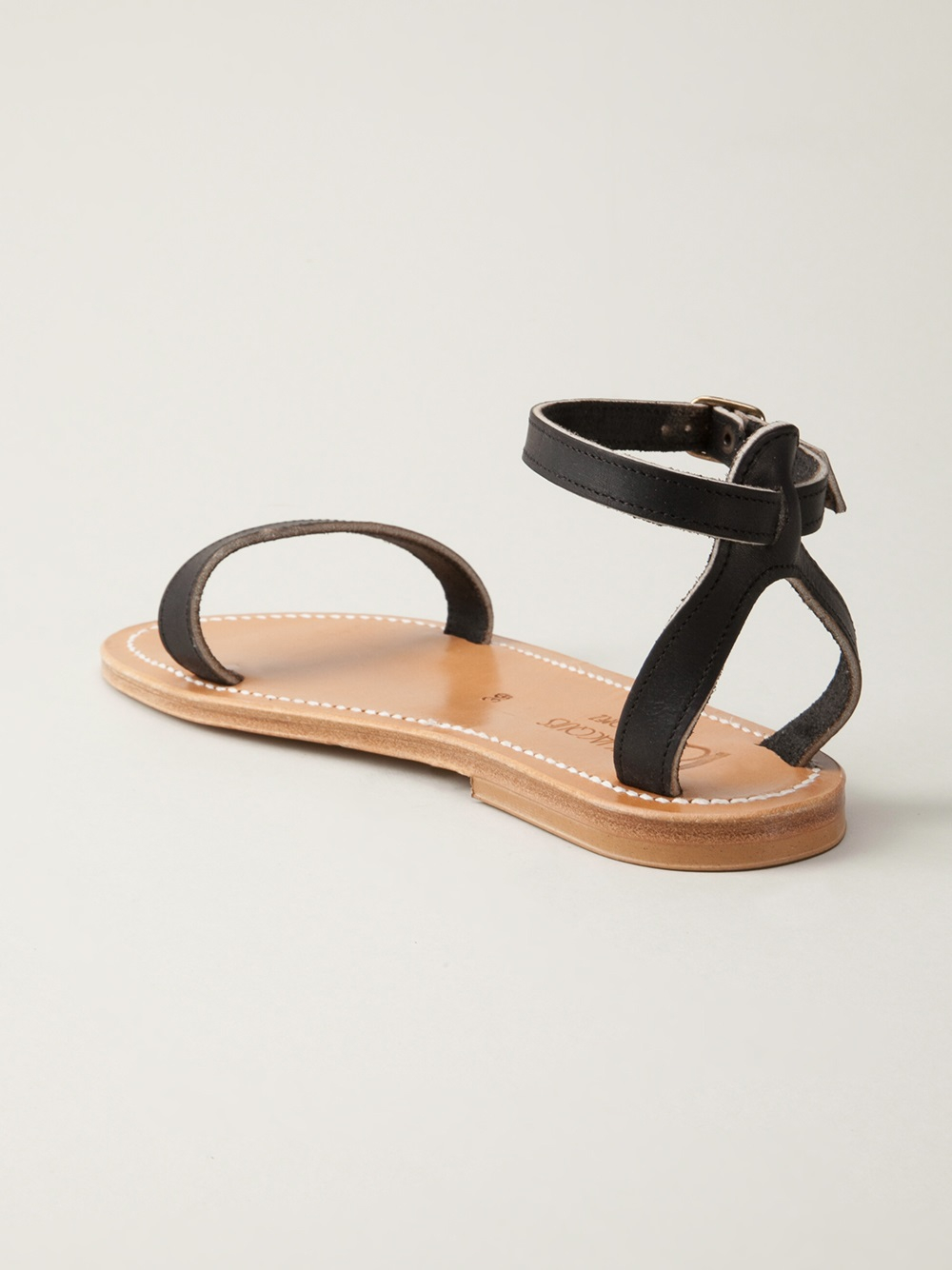 Lyst K Jacques Laura Sandal In Black