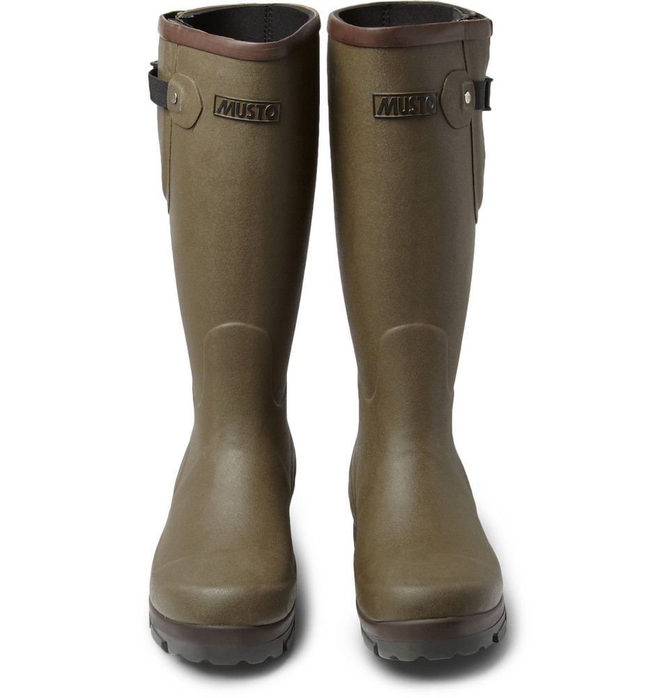 Musto Shooting Holmside Country Wellington Boots In Green