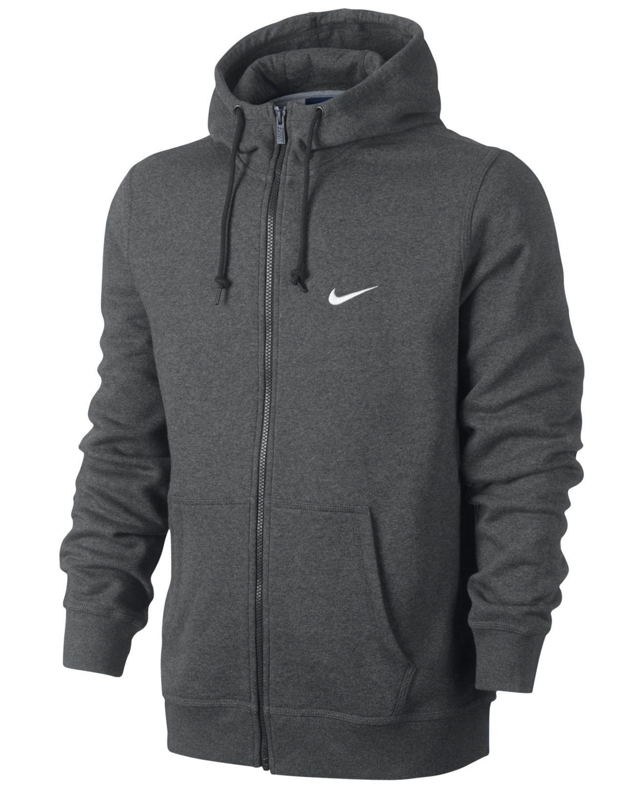 Lyst - Nike Men's Classic Fleece Full-zip Hoodie in Gray ...