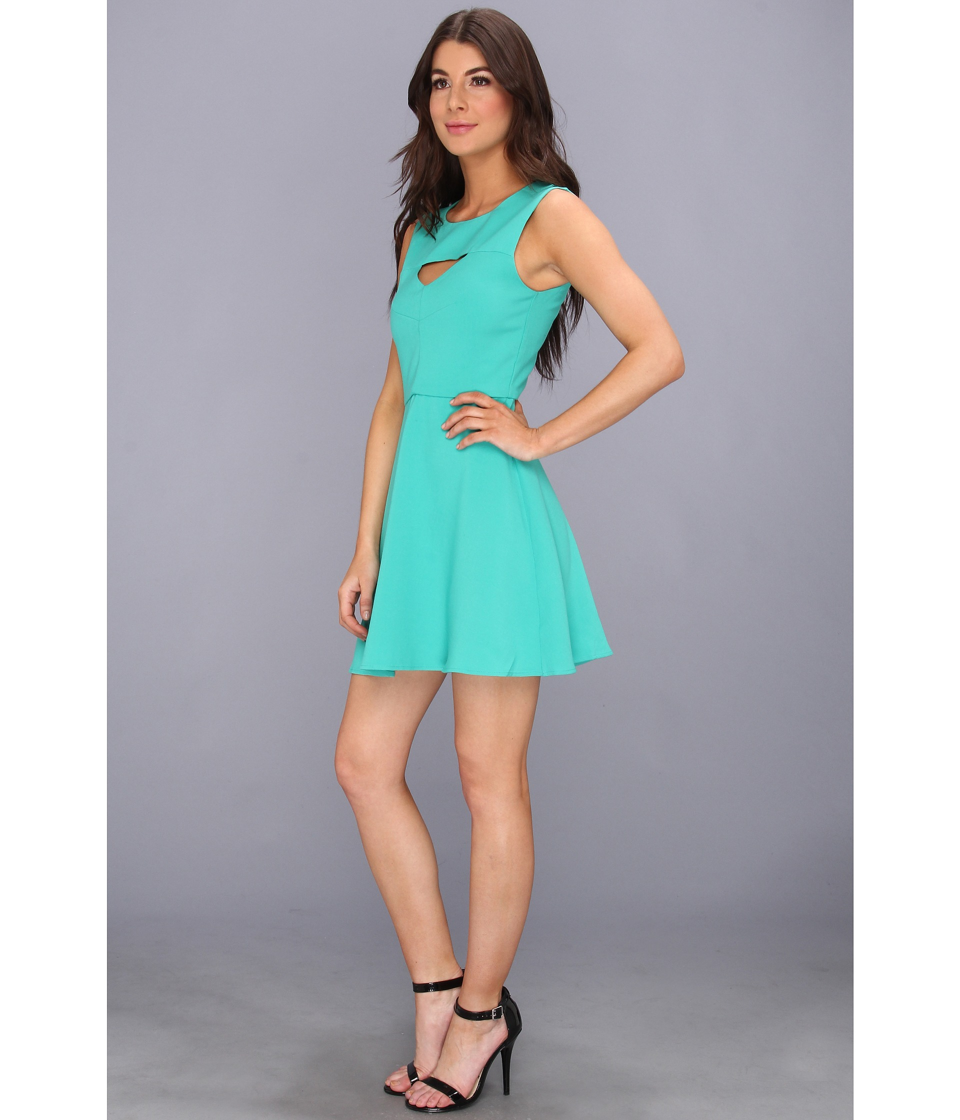 French Connection Feather Ruth Cut Out Dress In Green Lyst