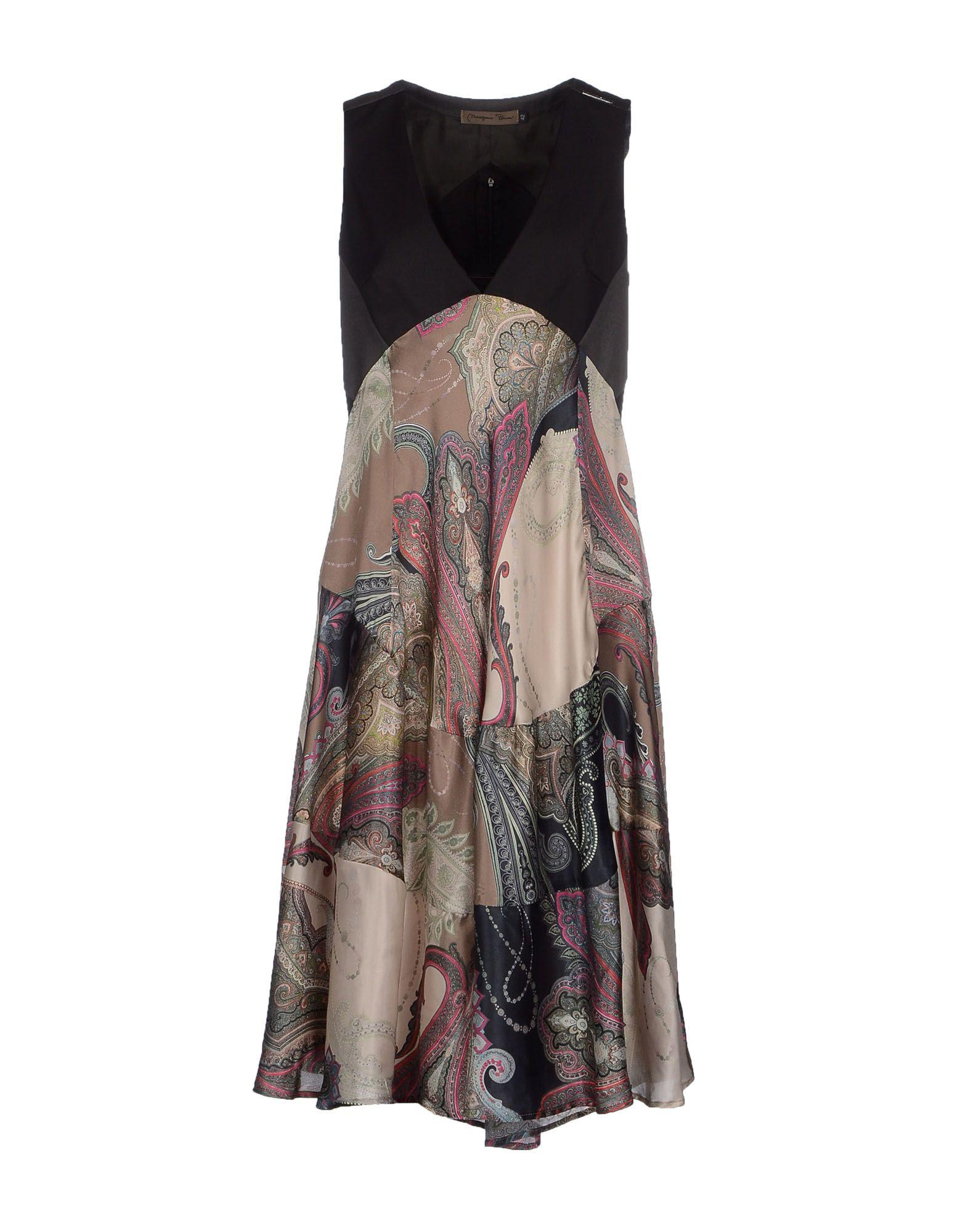 Mariagrazia Panizzi 3 4 Length Dress In Black Lyst