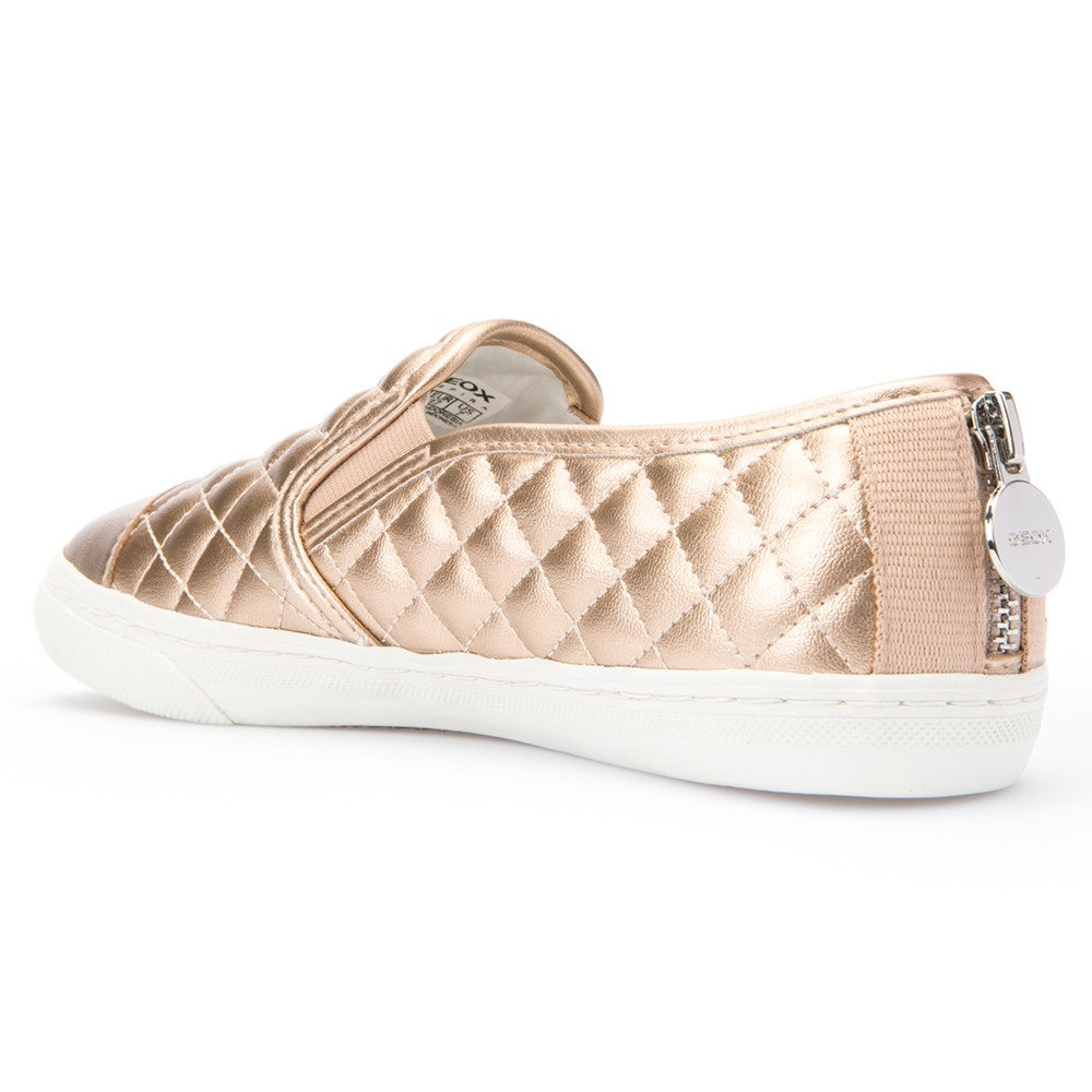 Geox New Club Material Slip On Trainers in Gold (Metallic)