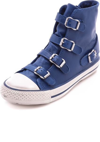 ash virgin high top sneakers cobalt in blue cobalt lyst. Black Bedroom Furniture Sets. Home Design Ideas