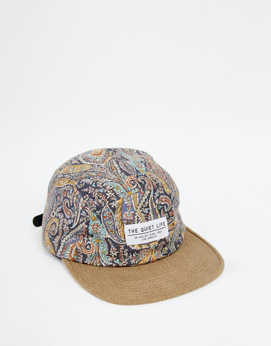 6aa55755596 Lyst - The Quiet Life X Liberty Paisley 5 Panel Cap in Natural for Men