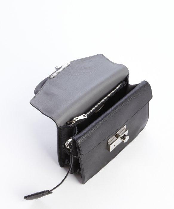 Prada Black Saffiano Leather Mini Shoulder Bag in Black | Lyst