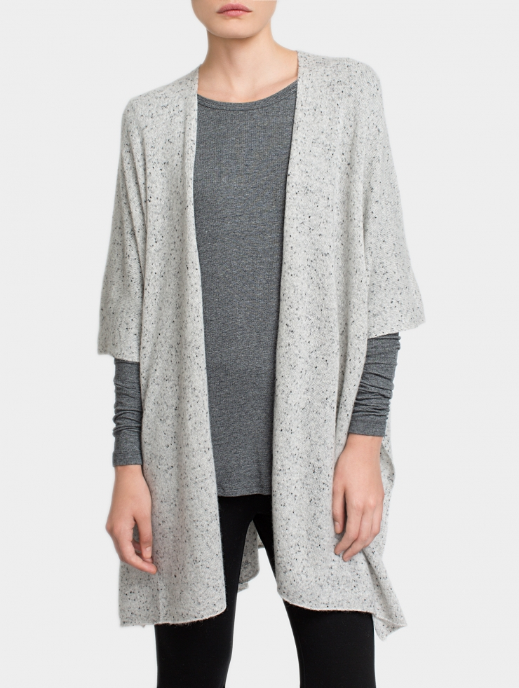 White + Warren Cashmere Blanket Poncho in Gray - Lyst