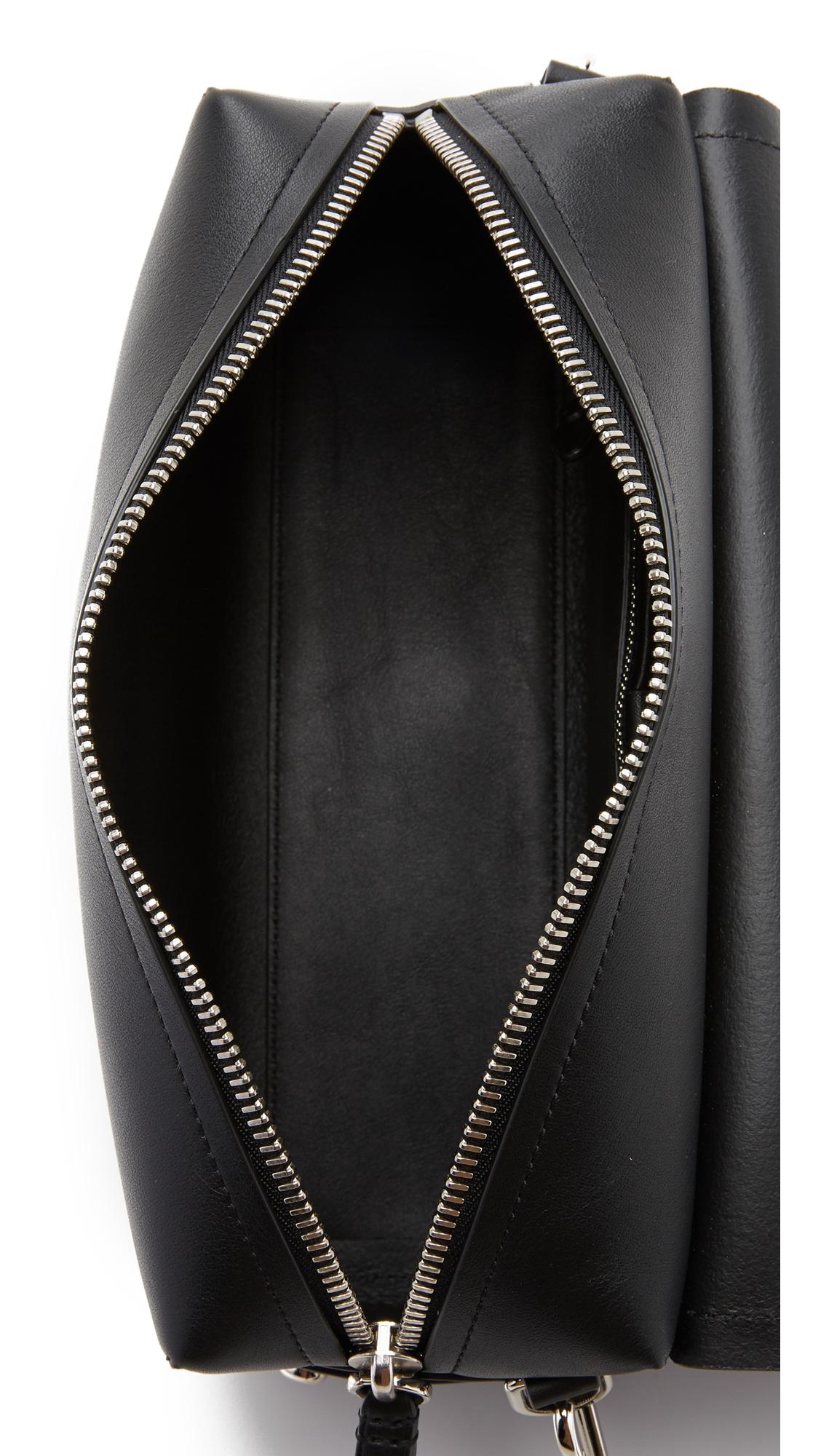 3.1 Phillip Lim Bianca Medium Flap Cross Body Bag in Black
