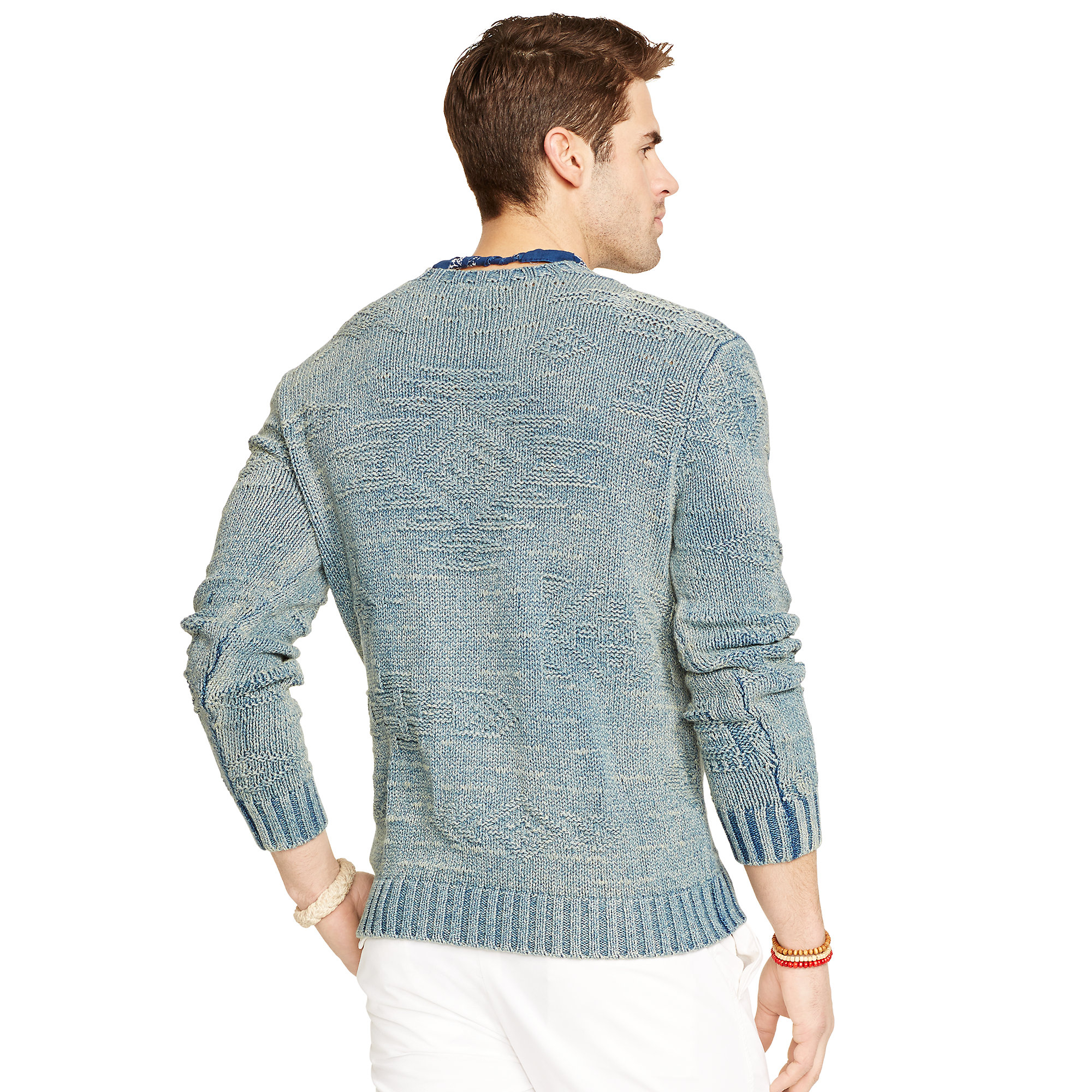 Polo ralph lauren Indigo-dyed Cotton Sweater in Blue for Men   Lyst