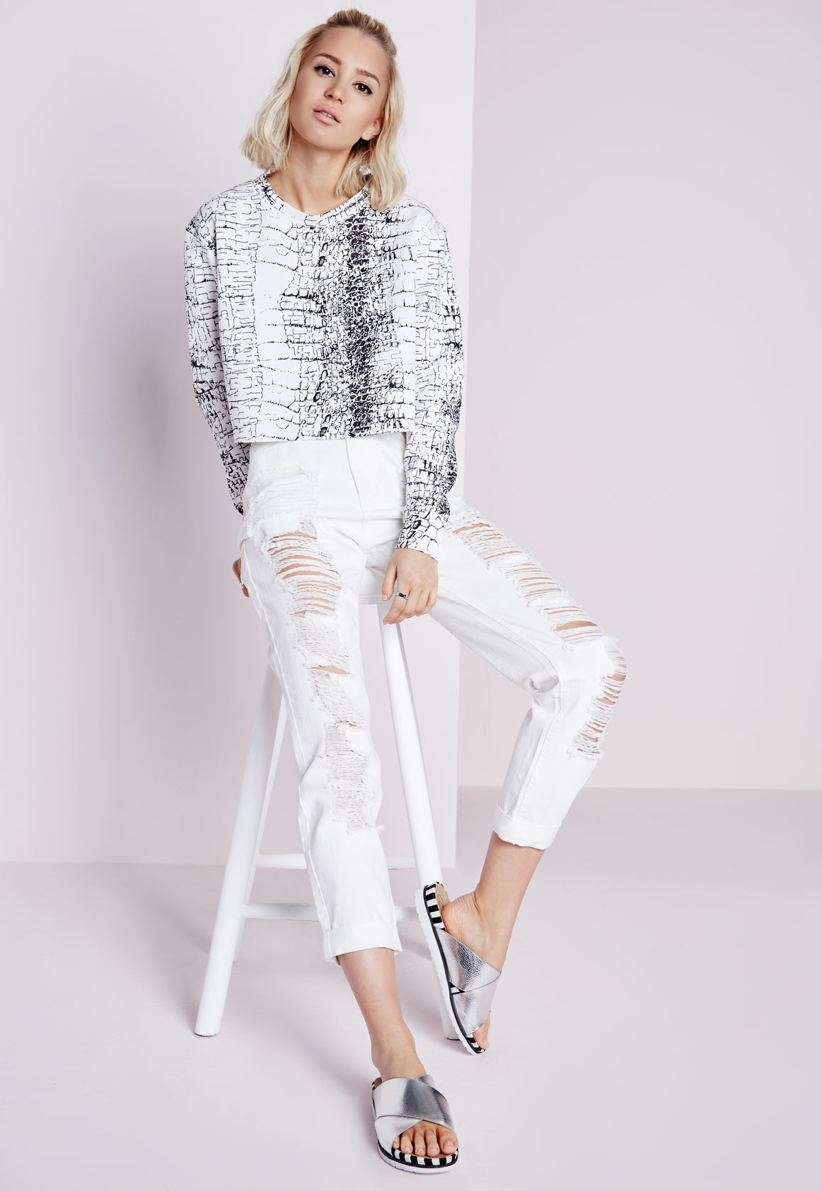 Champagne Round Neck Asymmetric Hem Side Slit Plain T-Shirts fraser sale mini