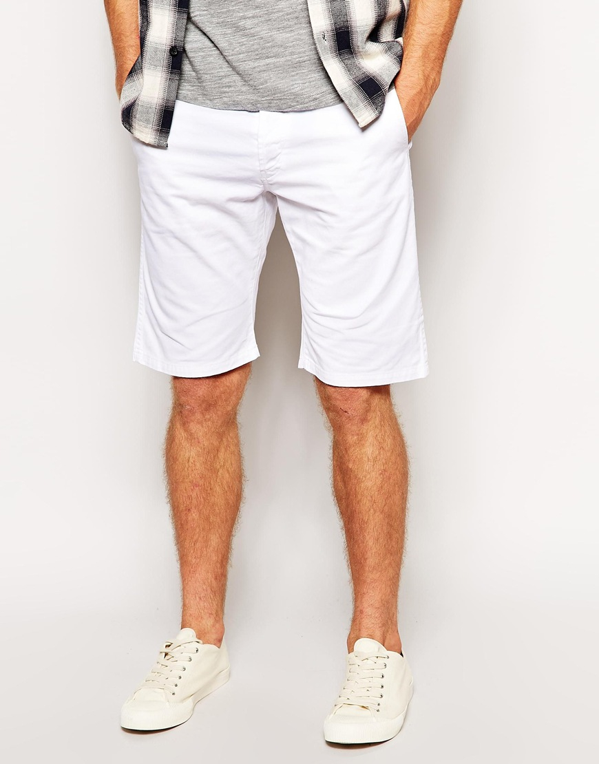 White Shorts For Men - The Else