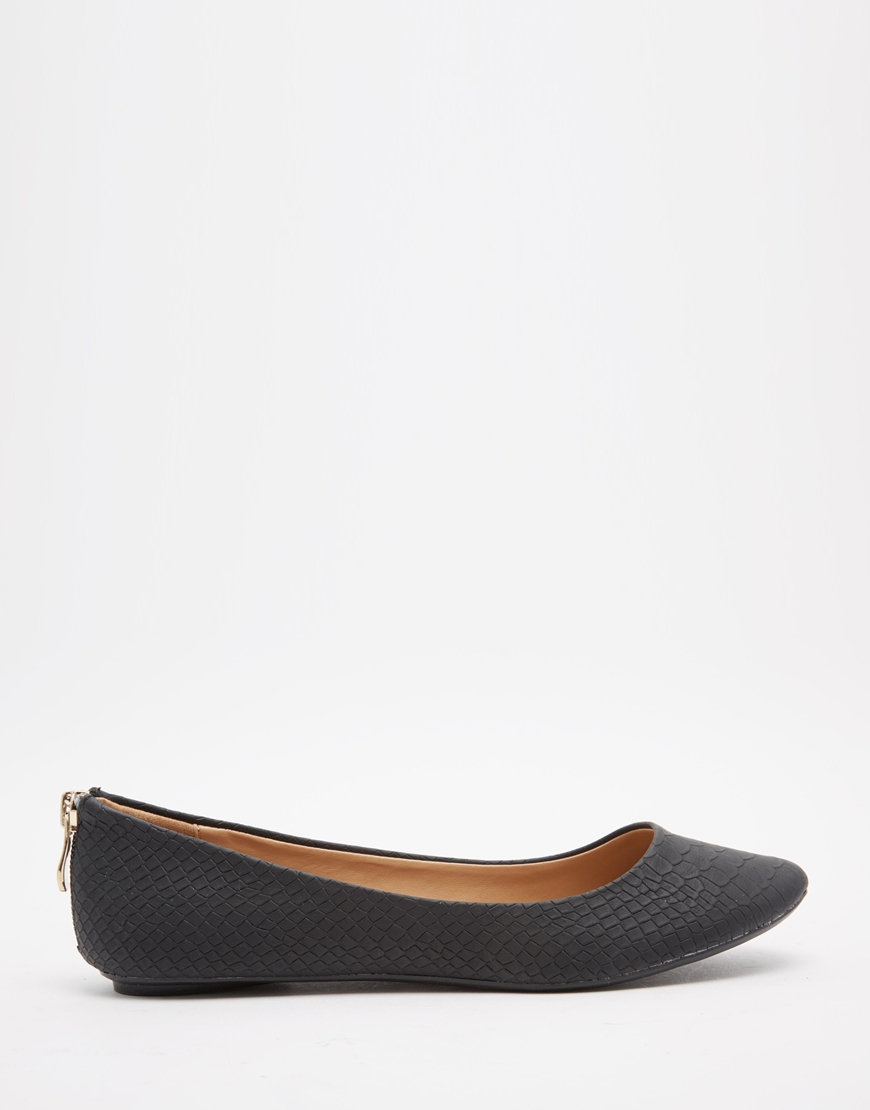 Call It Spring Brevia Black Ballerina Flat Shoes In Black