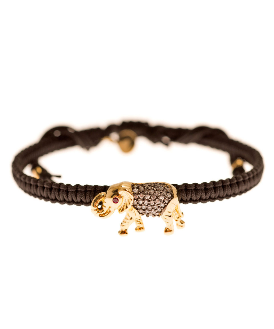 Lyst Tai Gold Tone Elephant Bracelet In Metallic