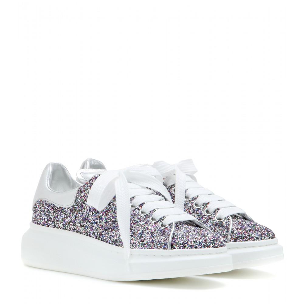 Alexander Mcqueen Glitter Sneakers Lyst
