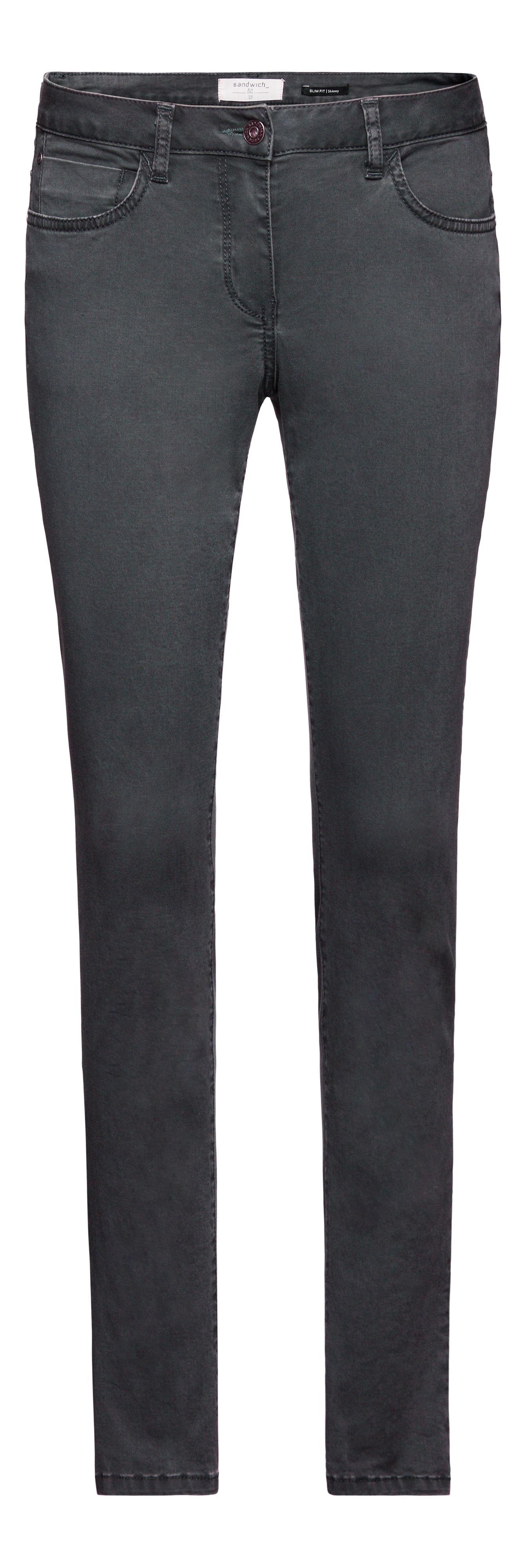 sandwich skinny jeans in gray lyst. Black Bedroom Furniture Sets. Home Design Ideas