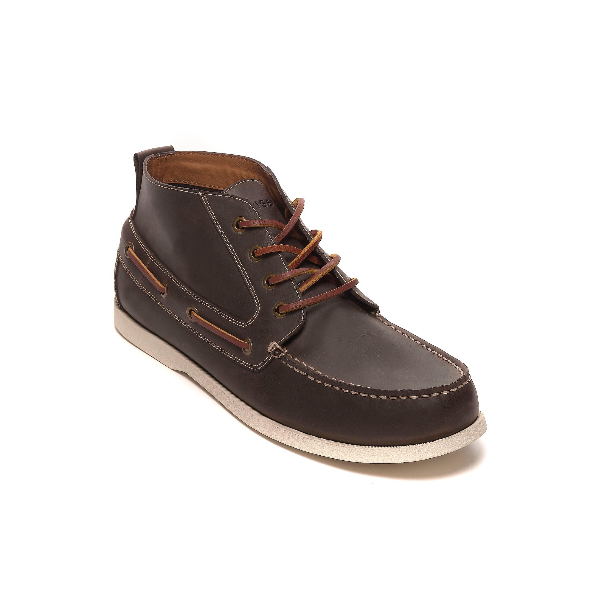 tommy hilfiger topsider boot in brown for men coffee bean. Black Bedroom Furniture Sets. Home Design Ideas