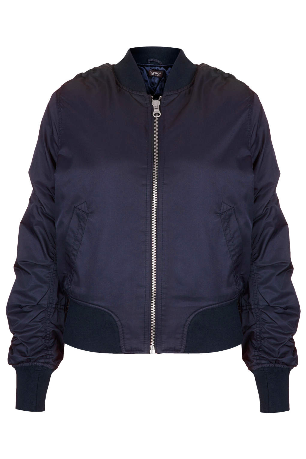 Lyst Topshop Ultimate Ma1 Bomber Jacket In Blue