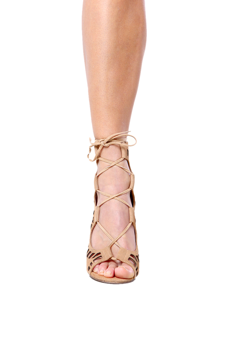 e344f02a91f38 Lyst - Modern Vice Ghillie Pumps in Nude Suede in Natural