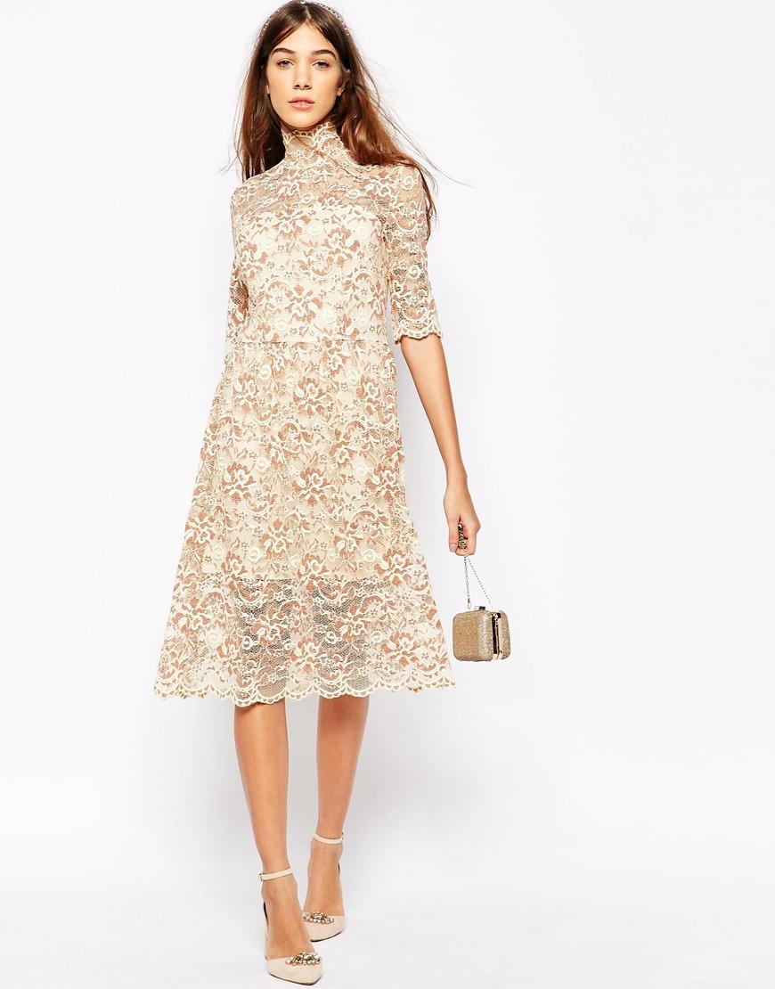 lace midi dress - photo #44
