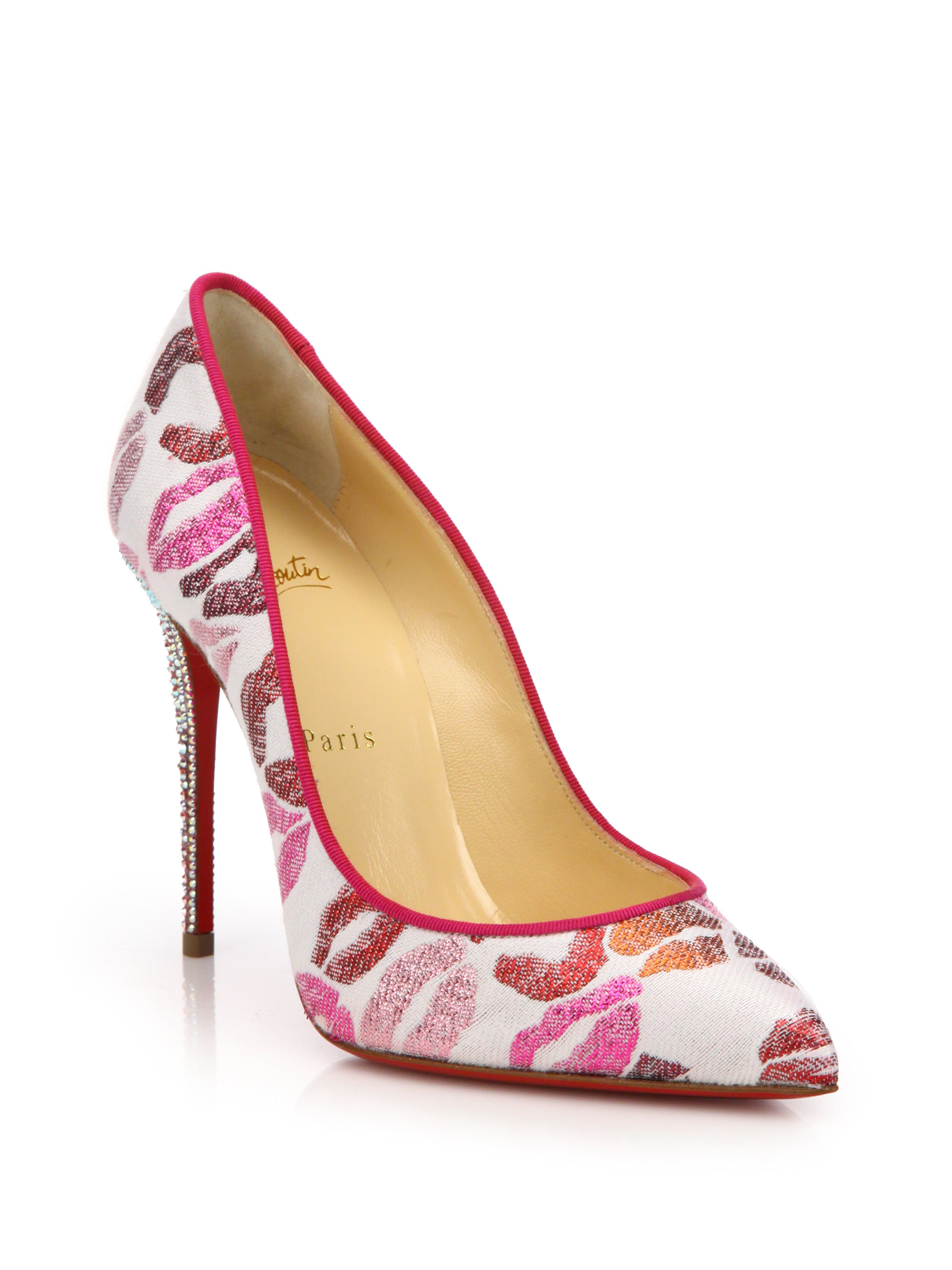 f4142fee2d27 ... promo code for lyst christian louboutin cosmopump point toe pumps in  white 8b121 e1430