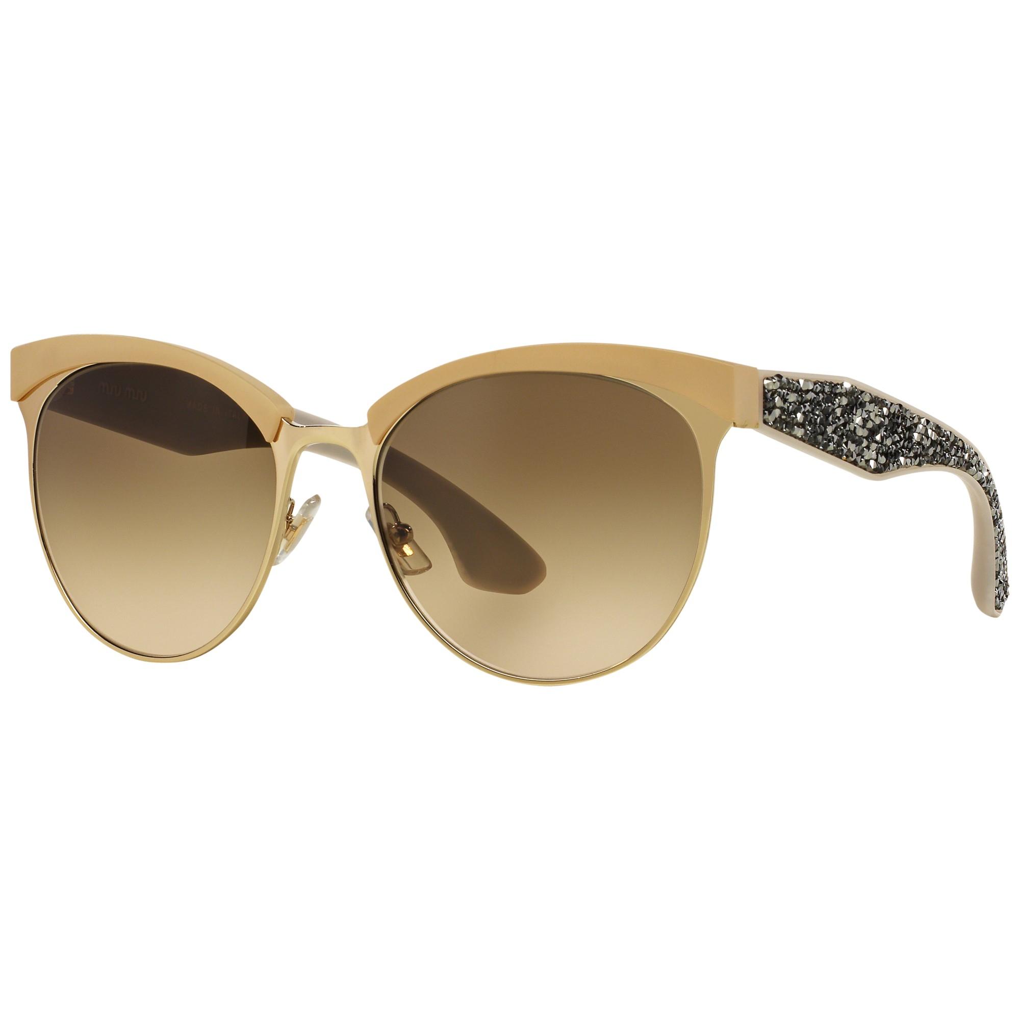382044e97b97 Miu Miu Mu54Qs Stardust Bead Encrusted Sunglasses in Brown - Lyst