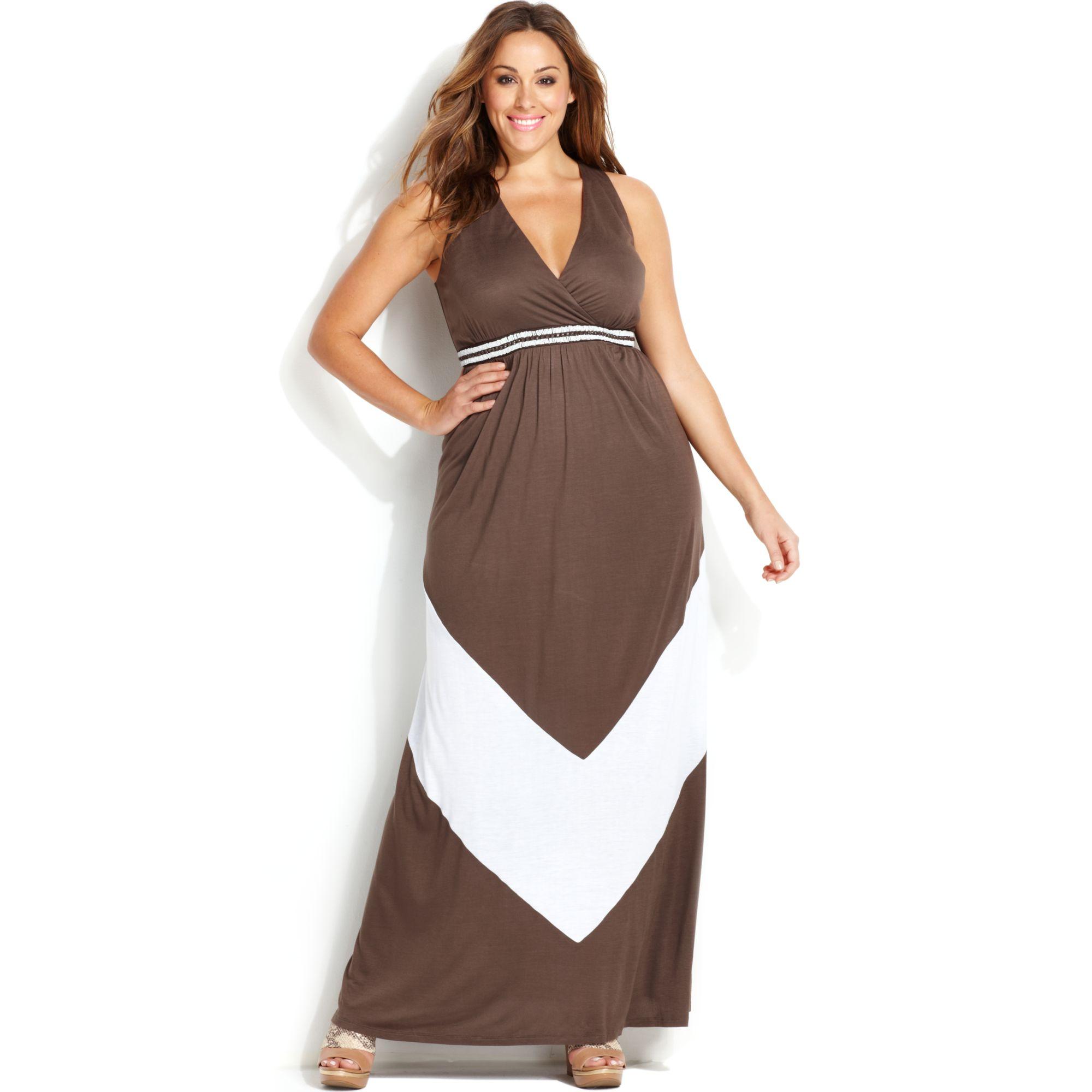 Lyst - Inc International Concepts Plus Size Sleeveless Colorblocked ...