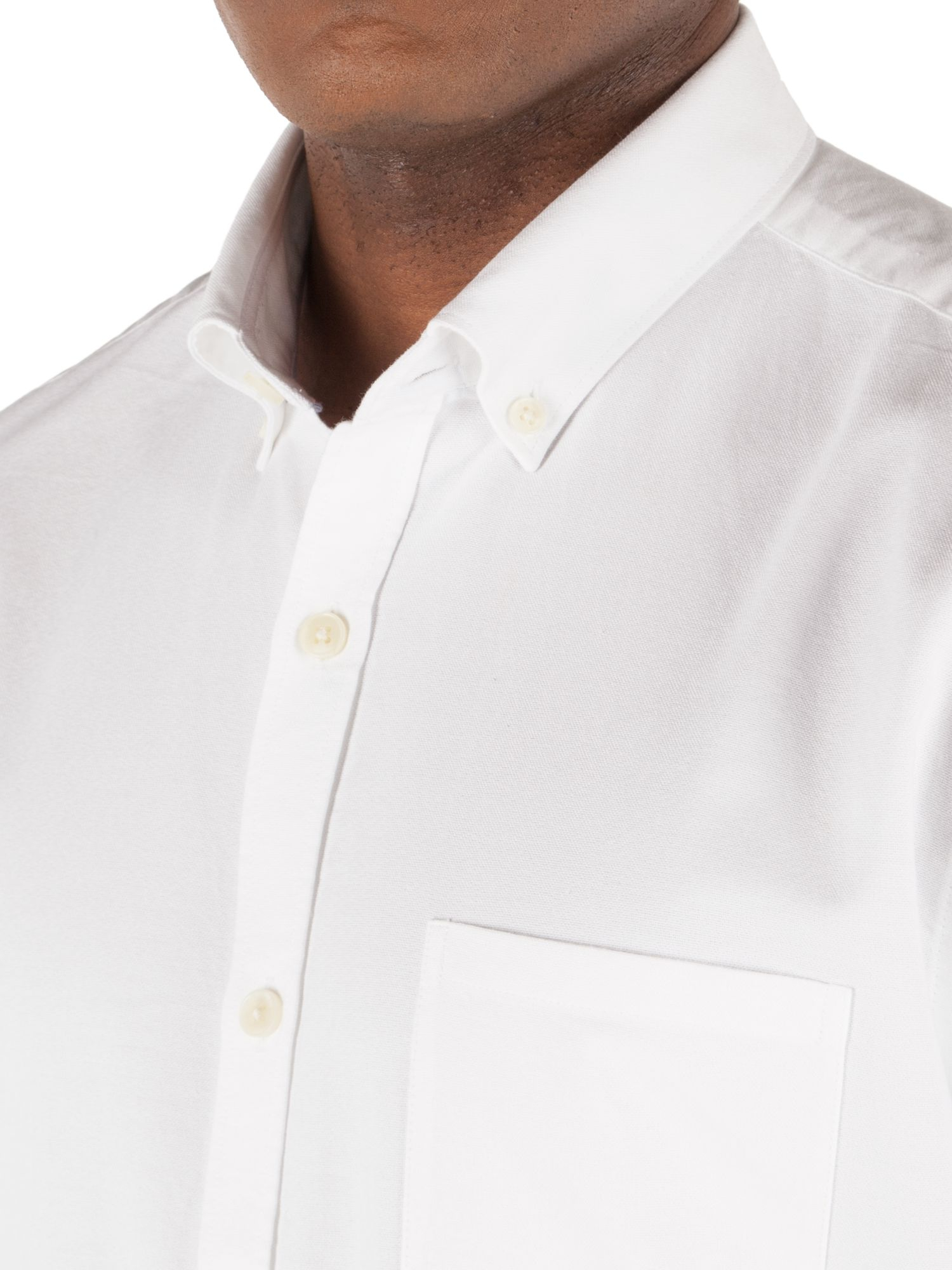 Gibson oxford tailored fit button down shirt in white for for White button down oxford shirt
