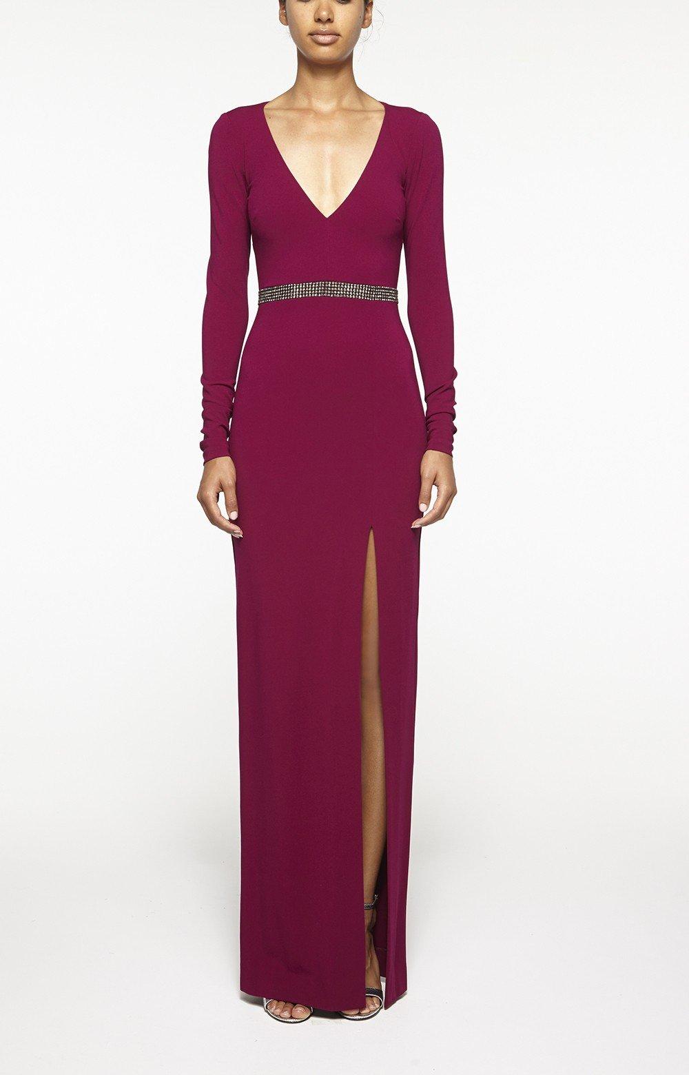 Nicole miller Open Back Gown in Purple  Lyst