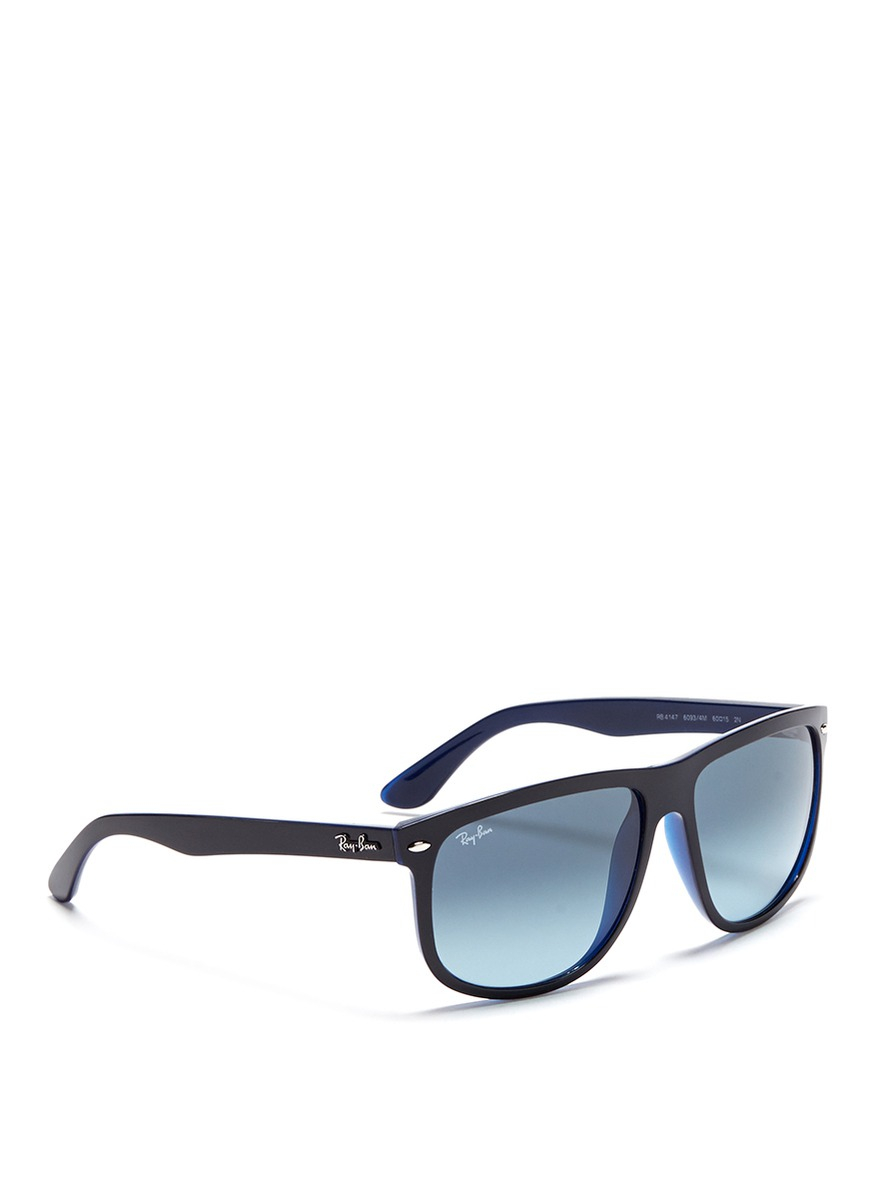 Ray Ban Big Frame Glasses : Ray-ban rb4147 Large Square Frame Acetate Sunglasses in ...