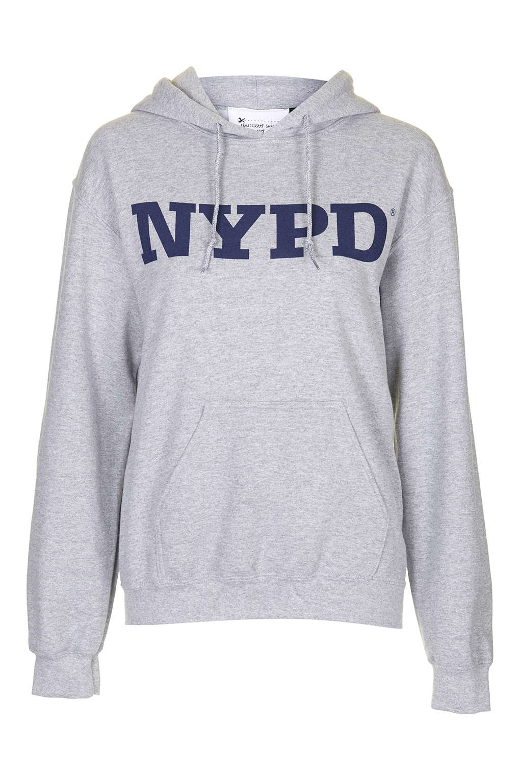 2a49ae0f TOPSHOP Nypd Hoody By Tee & Cake in Gray - Lyst