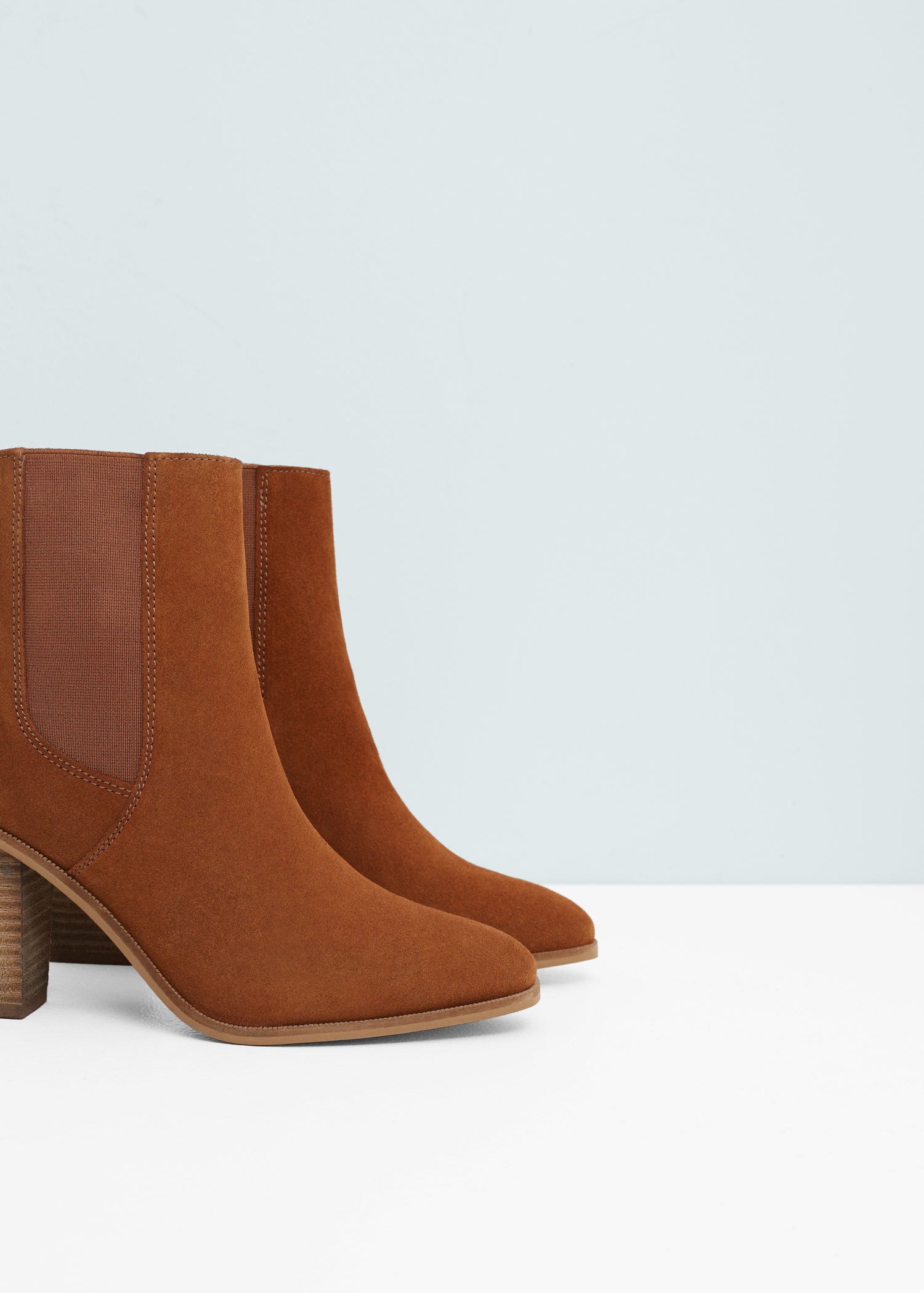 6991741f4bd Mango Brown Heel Leather Ankle Boot