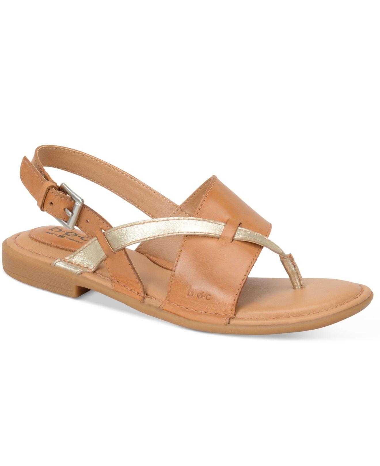 Two Strap Slingback Flat Sandals