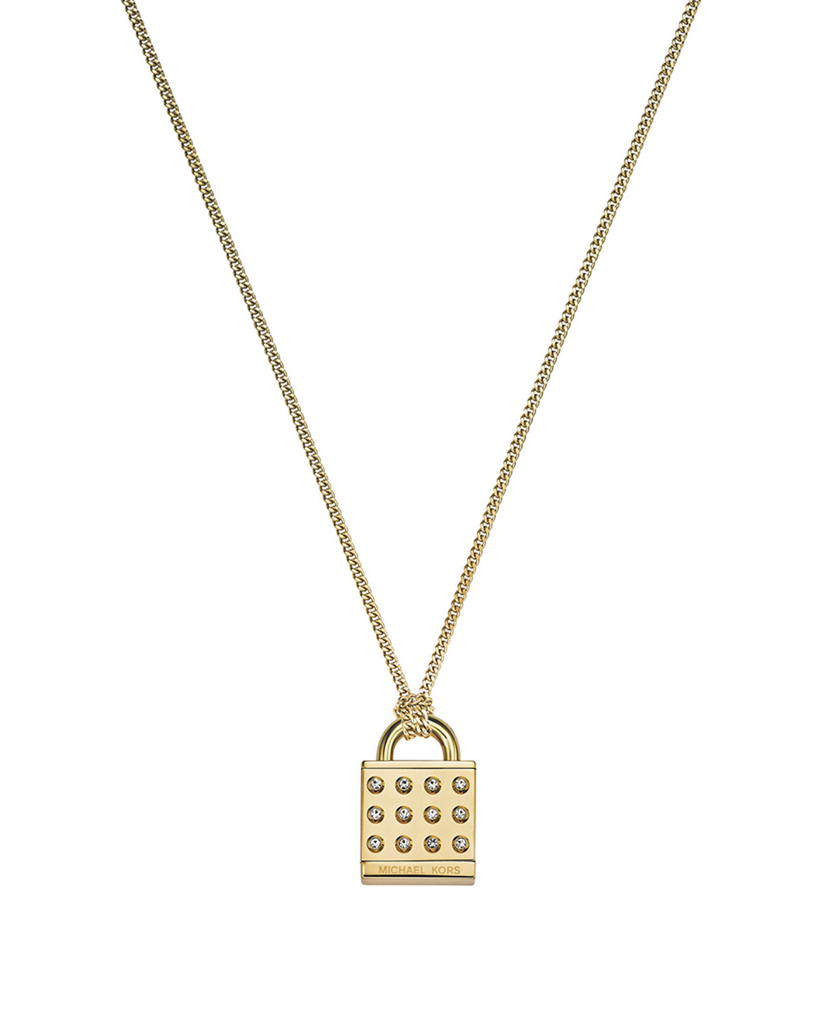 77b3e2d86e345 Gallery. Previously sold at  Neiman Marcus · Women s Padlock Necklaces  Women s Michael Kors Pendant