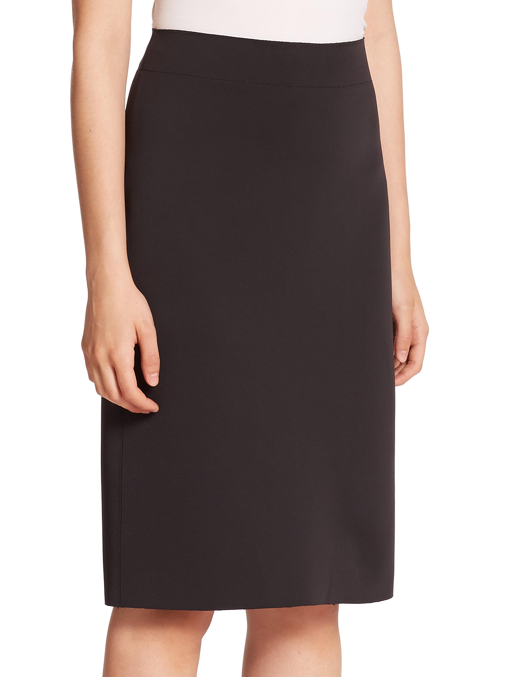 helmut lang scuba pencil skirt in black lyst
