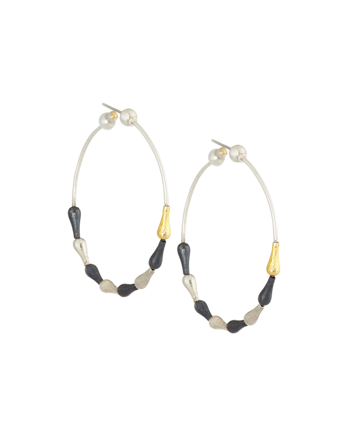 Fragments Tricolor Twisted Hoop Earrings HghLCVy