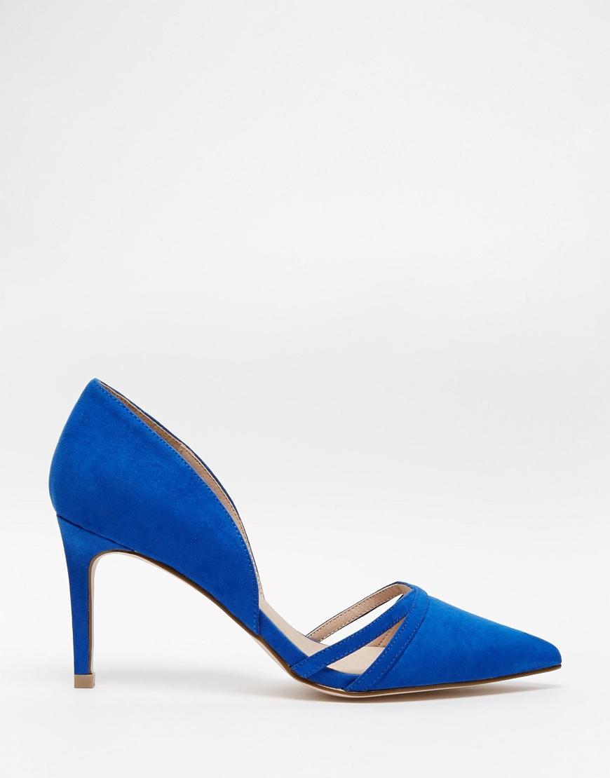ASOS Surprise Wide Fit Heels in Cobalt