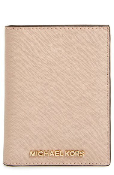 7531e8323955 Michael Kors Michael Travel Passport Wallet in Pink - Lyst