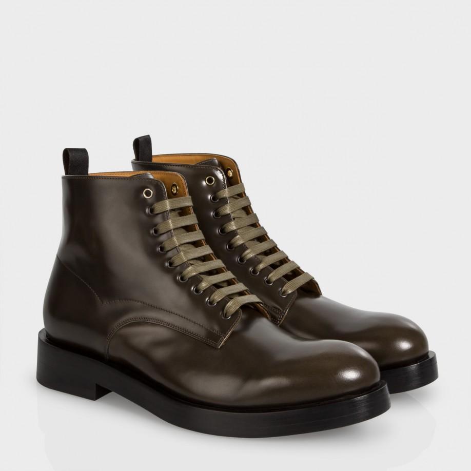 Khaki Calf Leather 'kelly' Boots