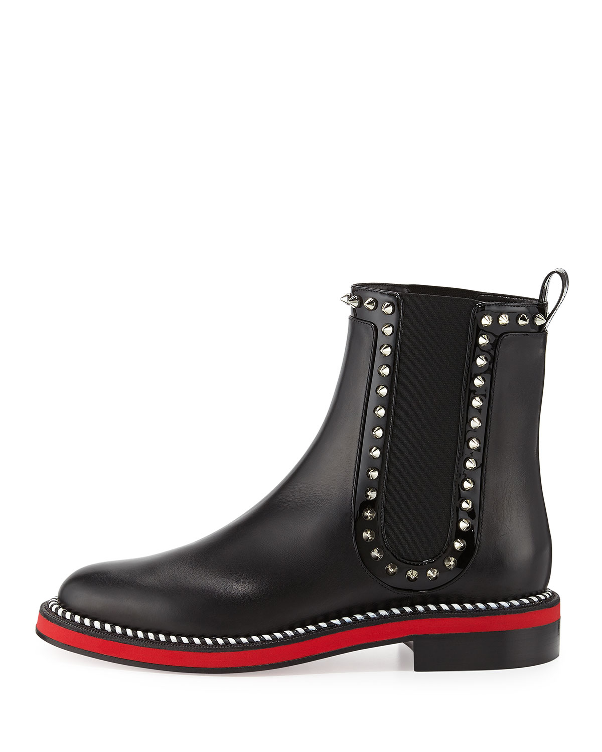 pretty nice 1298f 0b859 Christian Louboutin Black Nothing Hill Red Sole Boot