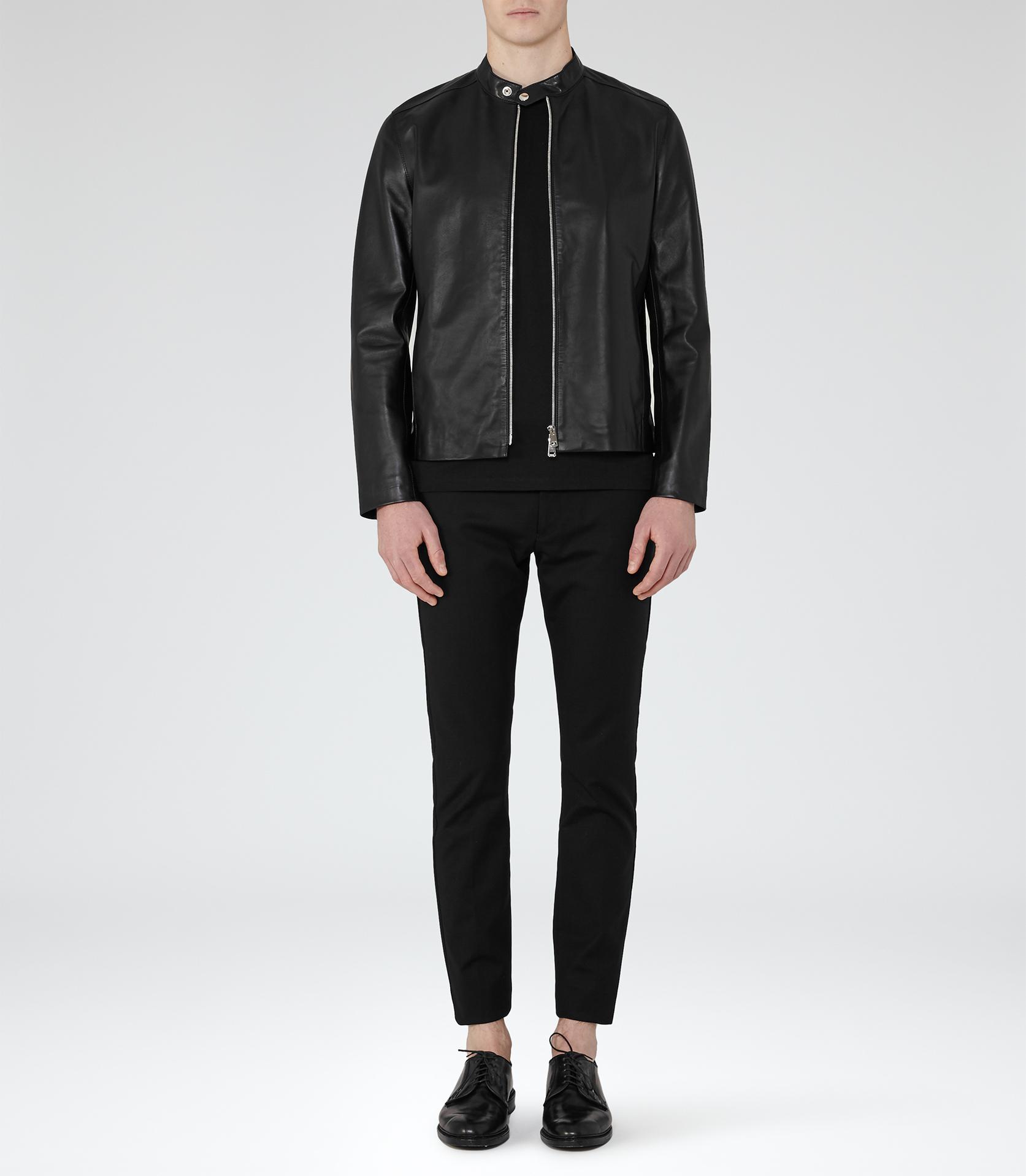 Reiss Brooklyn Leather Jacket in Black for Men