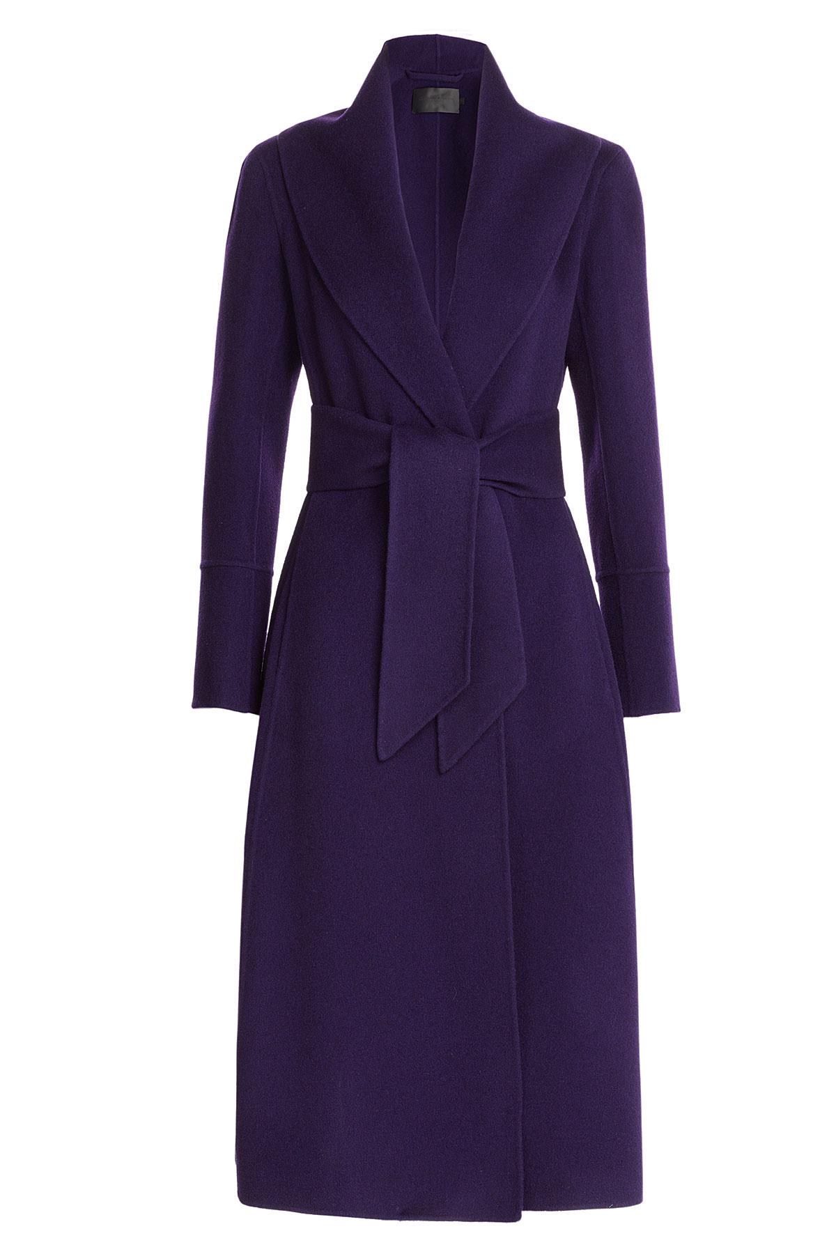 donna karan cashmere coat purple in blue lyst. Black Bedroom Furniture Sets. Home Design Ideas