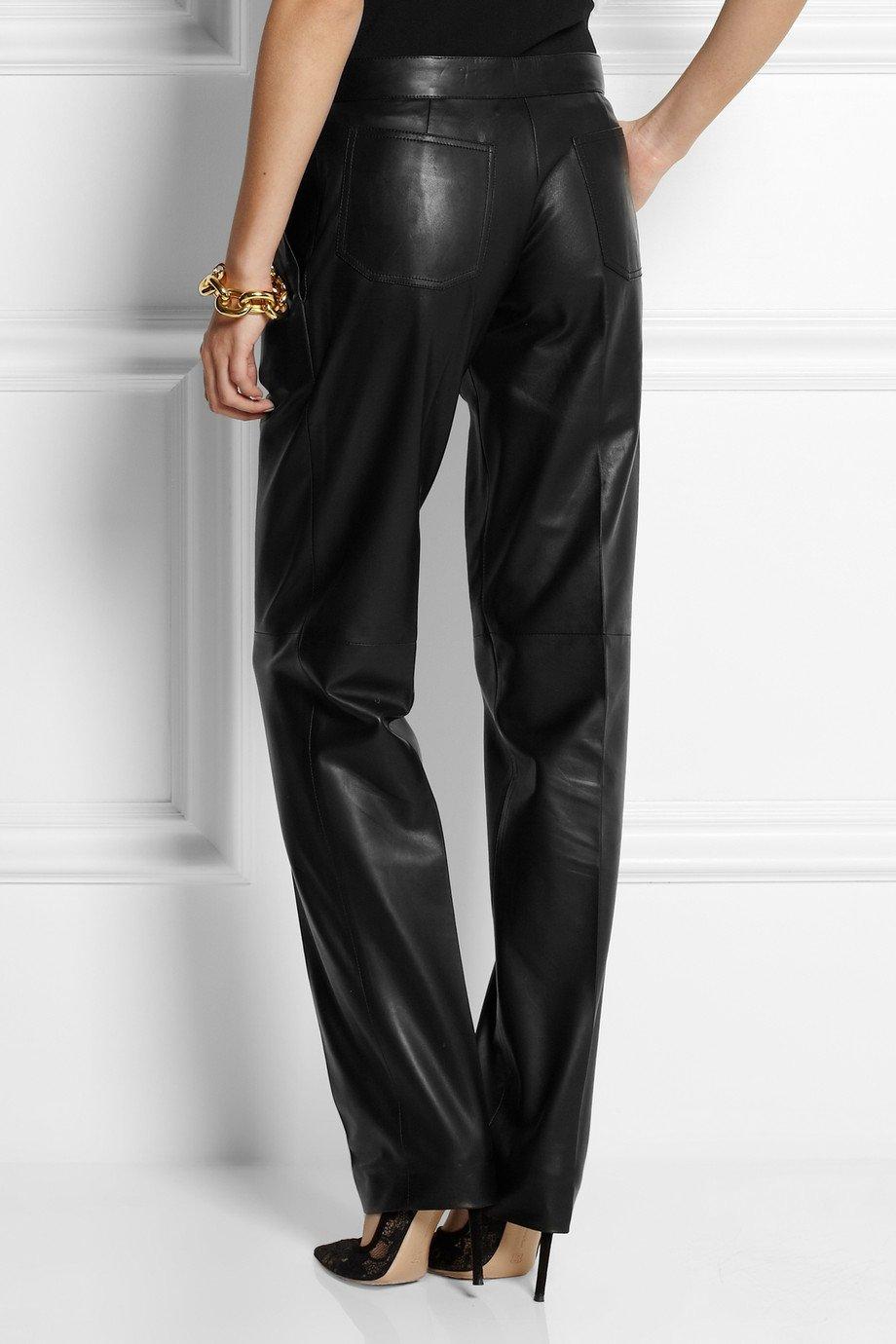 Brilliant Balmain Leather Motocrossstyle Skinny Pants In Black  Lyst