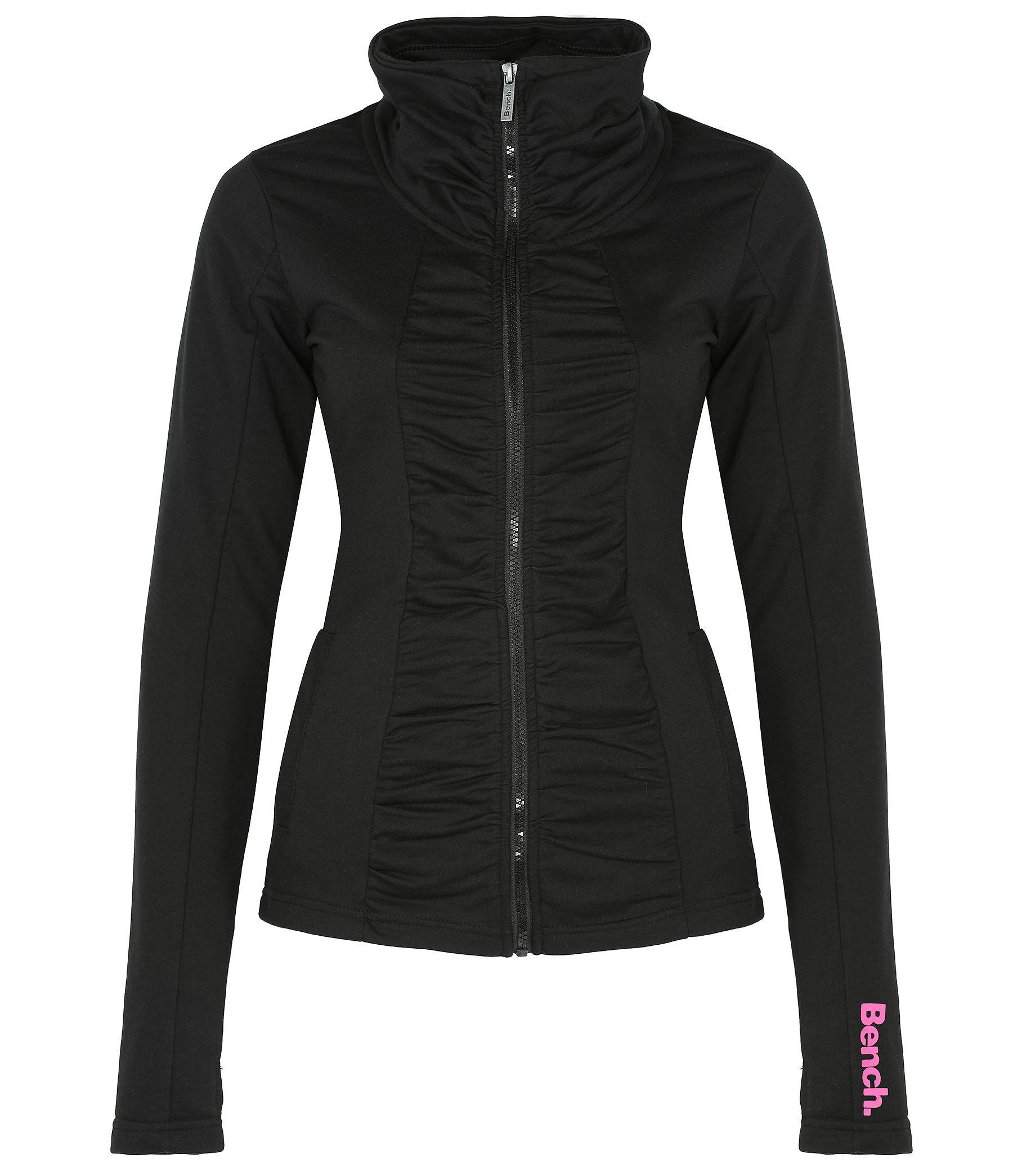 Lyst Bench Check In Zip Up Sweatshirt In Black