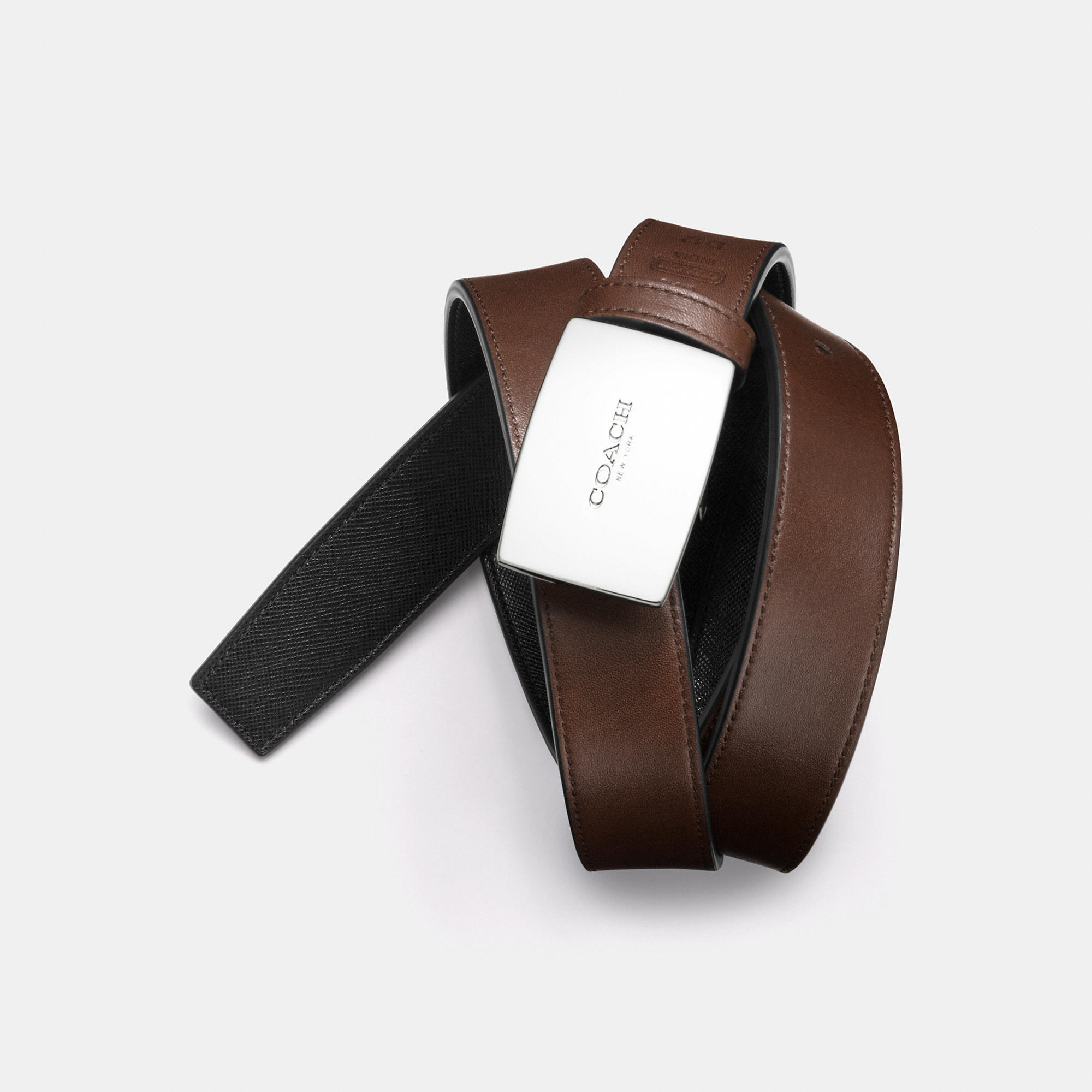 4a67dcd8fdbdf Lyst - COACH Boxed Cut-To-Size Reversible Belt in Brown for Men