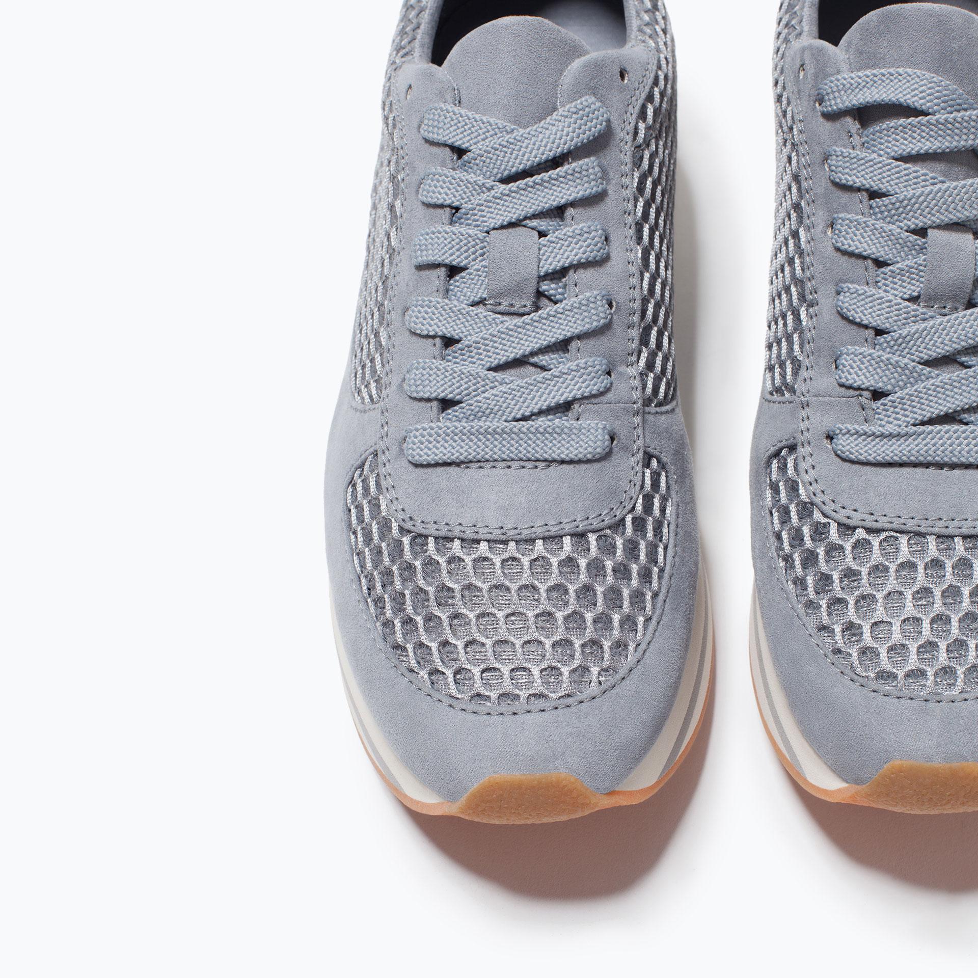 zara platform sneaker in blue lyst